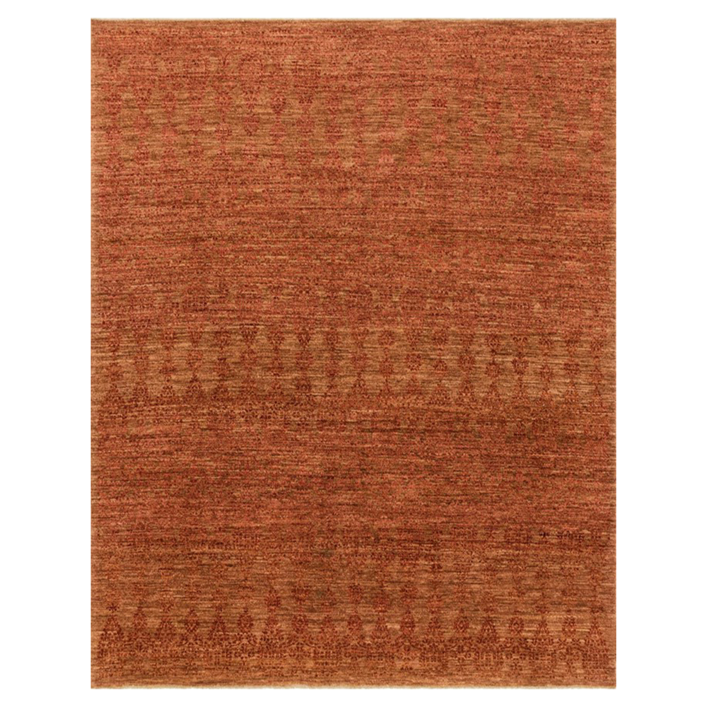 Boteh Global Lodge Paprika Red Wool Rug - 4x6