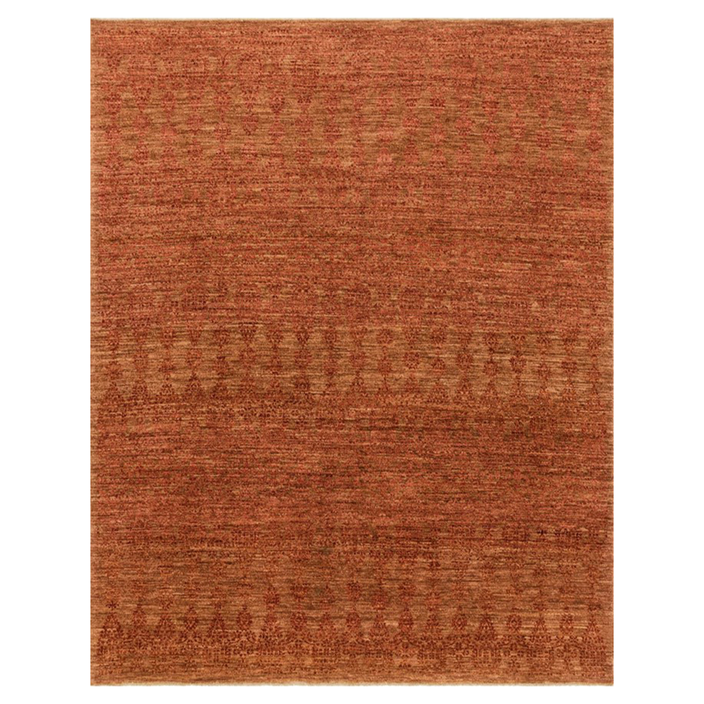 Boteh Global Lodge Paprika Red Wool Rug - 7'9x9'9