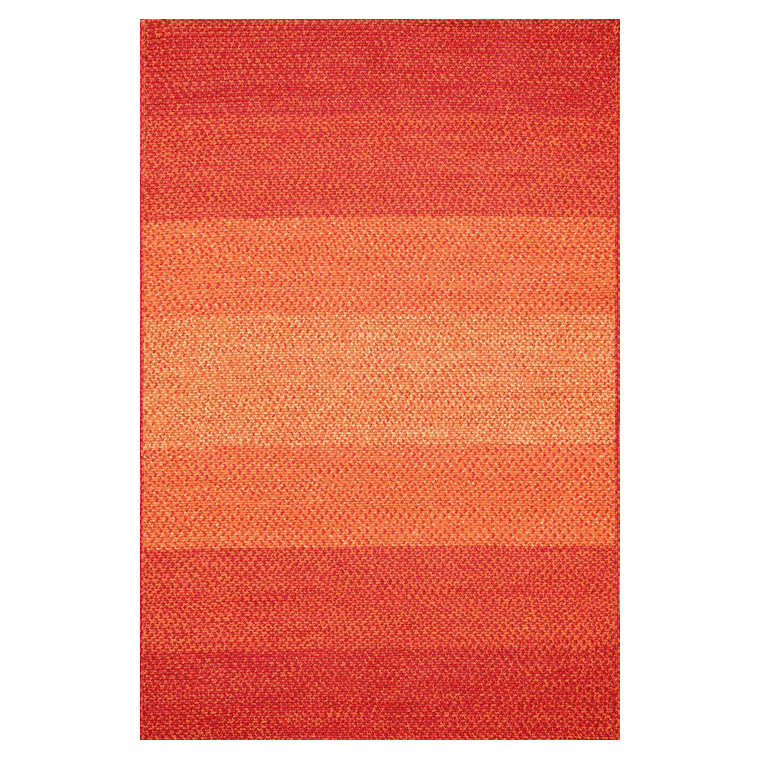 Zadie Coastal Beach Spice Red Outdoor Rug -3'6x5'6