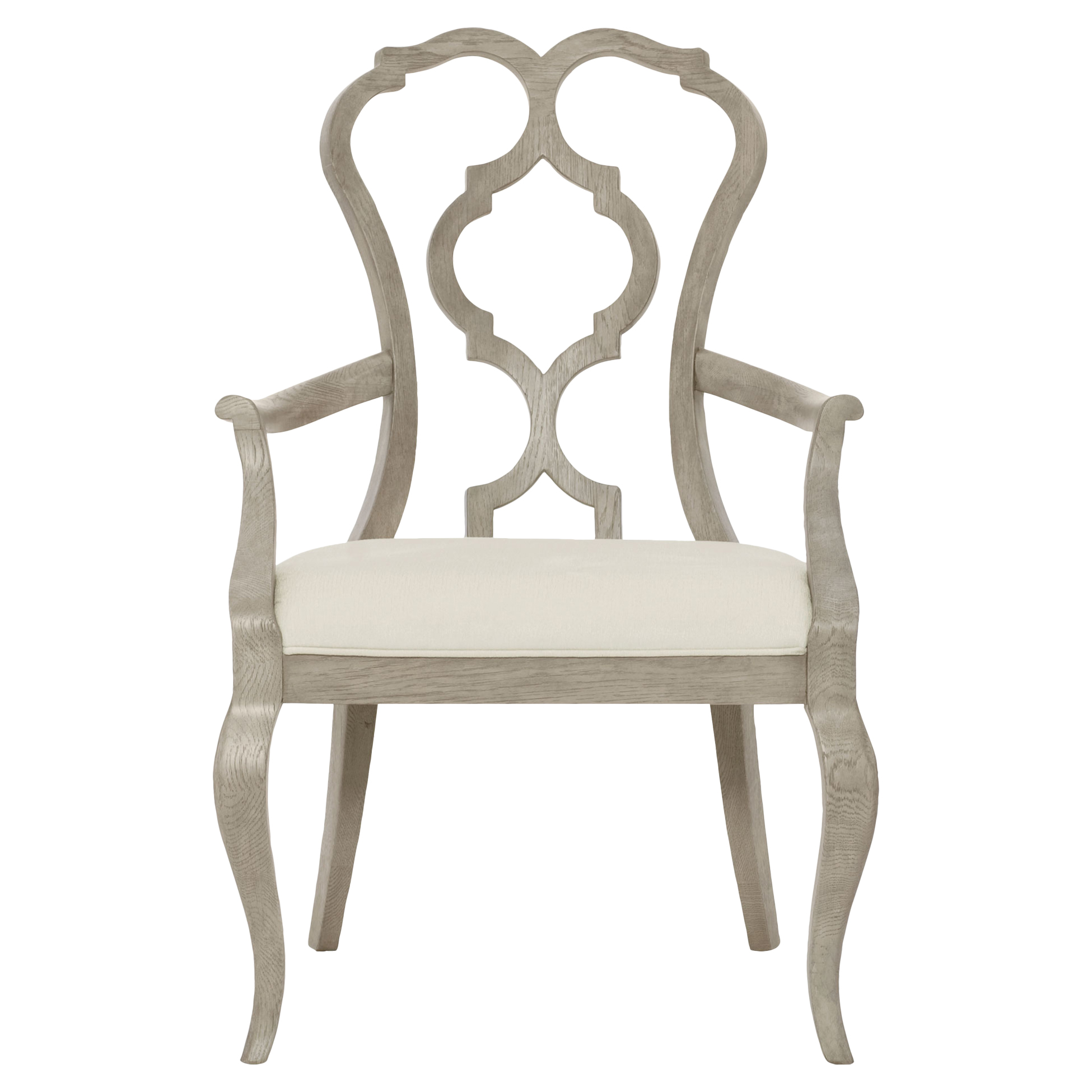 Michaela French Country Wood Upholstered Dining Arm Chair