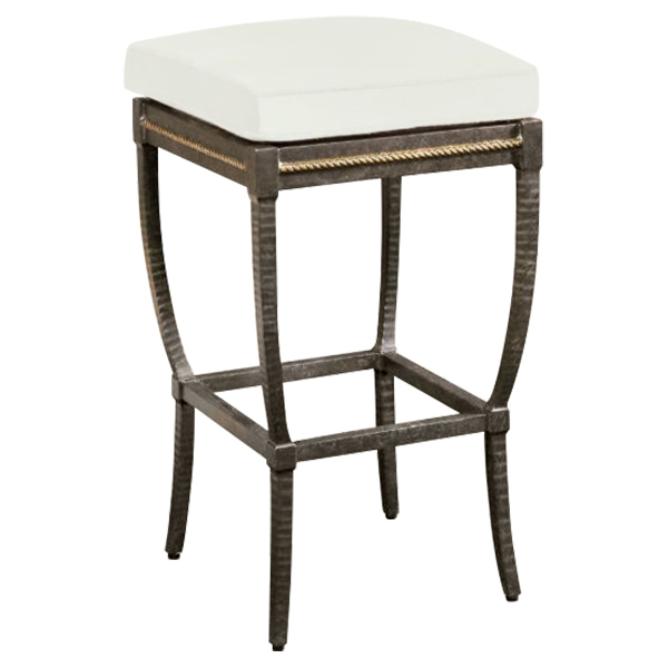 Jane Modern French Metal White Outdoor Bar Stool