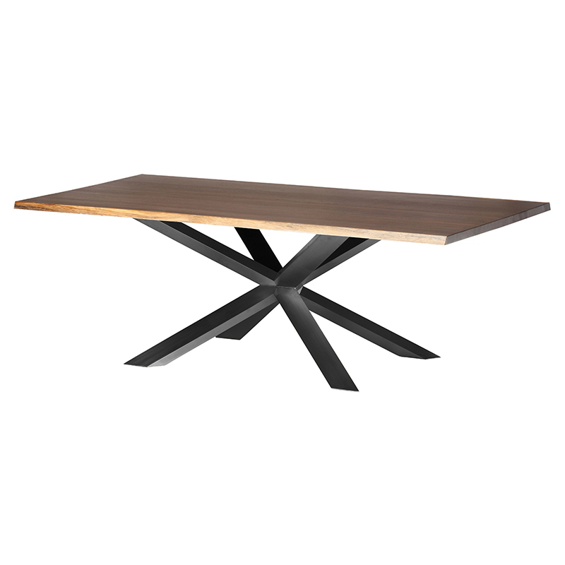 Prudence Modern Classic Oak Top Black Dining Table - 112W