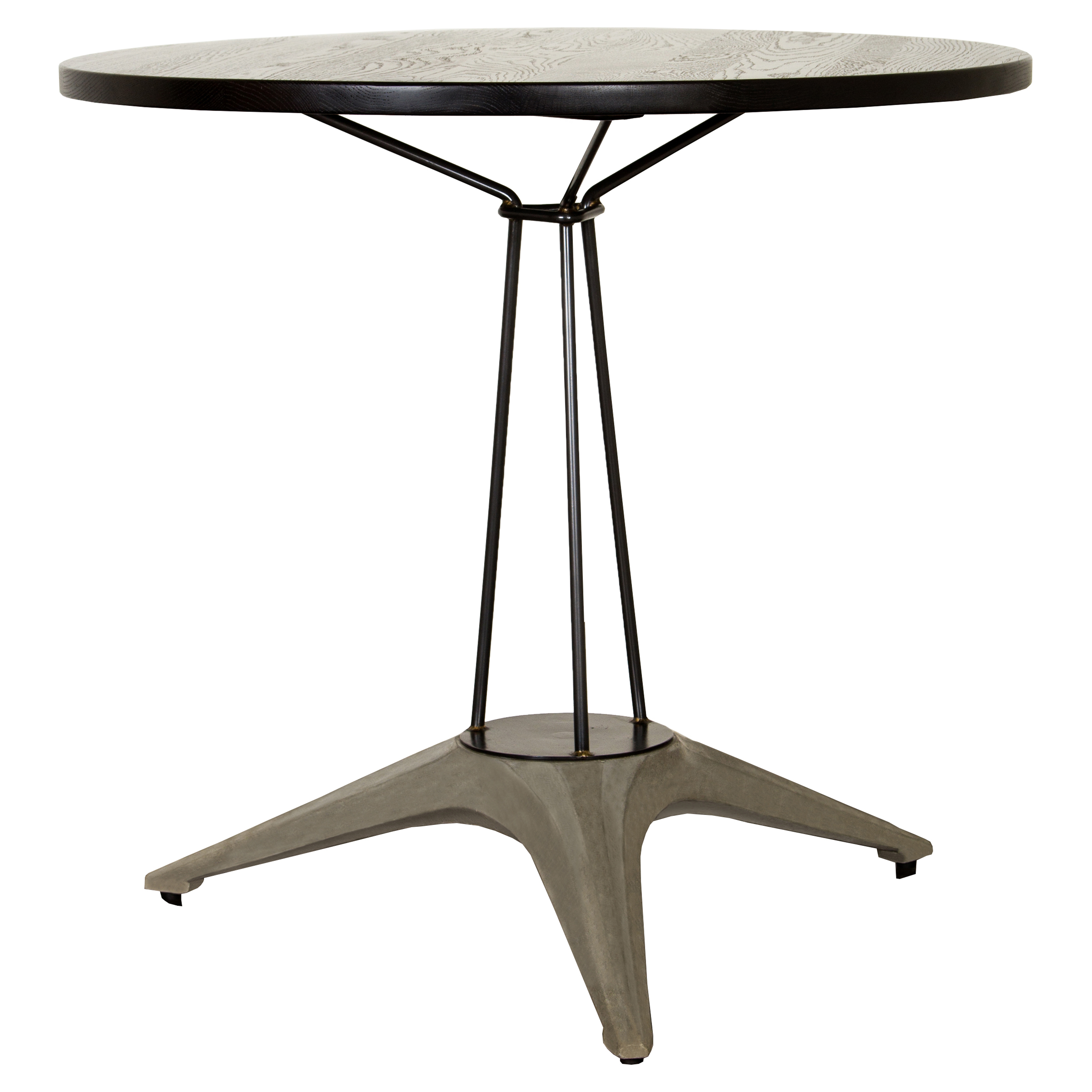 Maddock Industrial Loft Round Iron Cafe Table