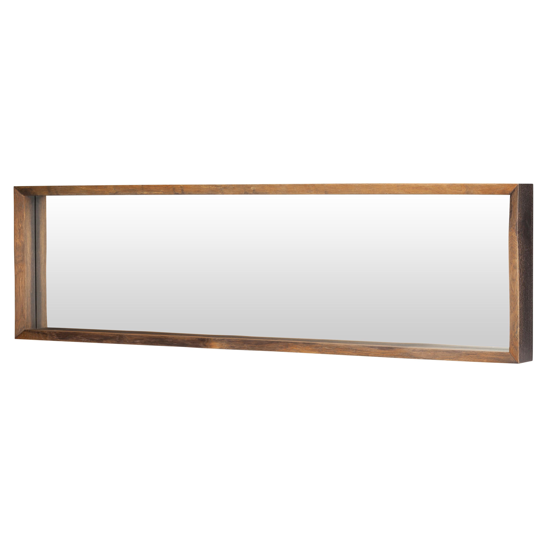 Casper Rustic Honey Oak Framed Horizontal Wall Mirror - 71W