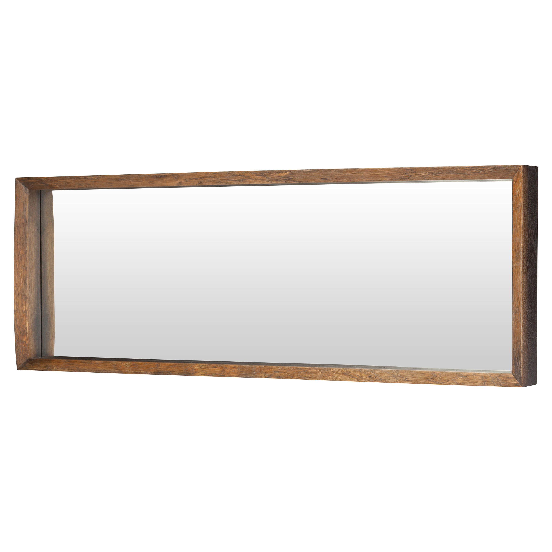 Casper Rustic Honey Oak Framed Horizontal Wall Mirror - 52.25W