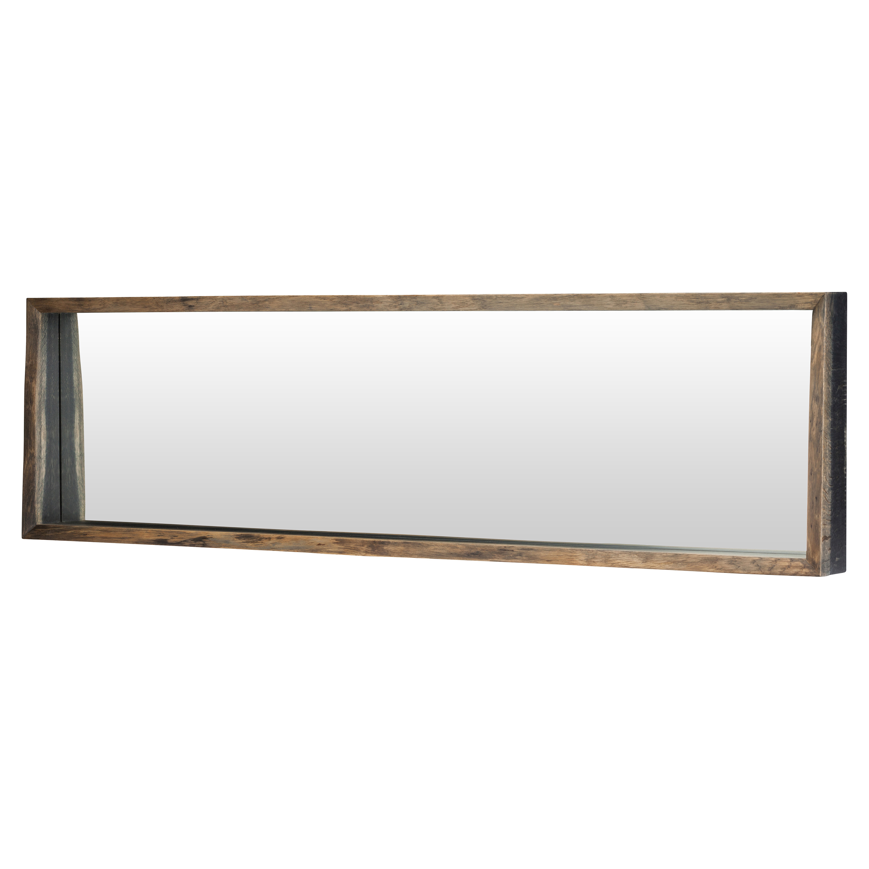 Casper Rustic Dark Oak Framed Horizontal Wall Mirror - 71W
