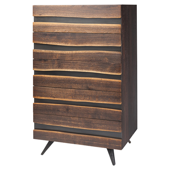 Raine Rustic Lodge Stria Wood 4-Drawer Dresser
