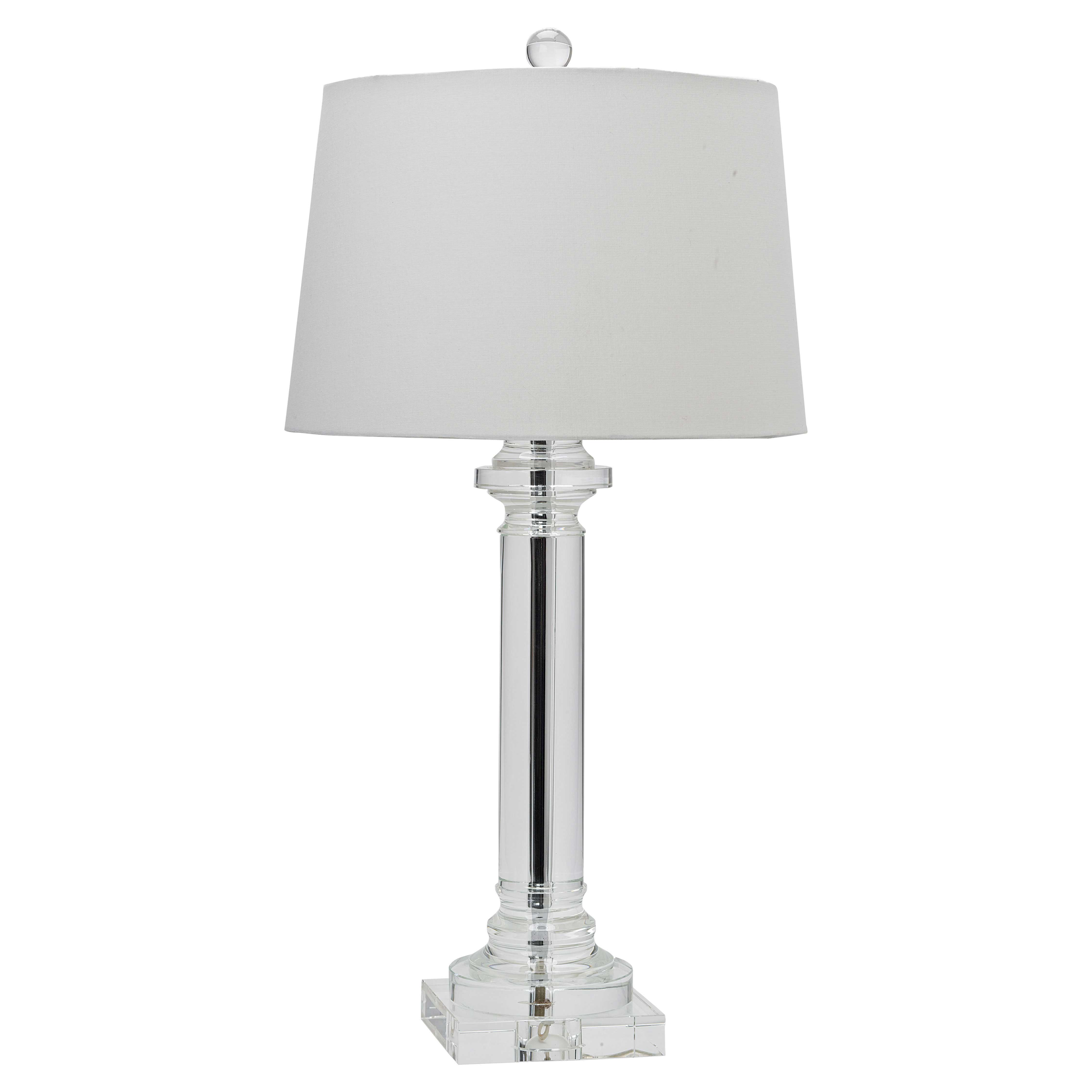 Chauncey Modern Classic Clear Crystal Column Lamp