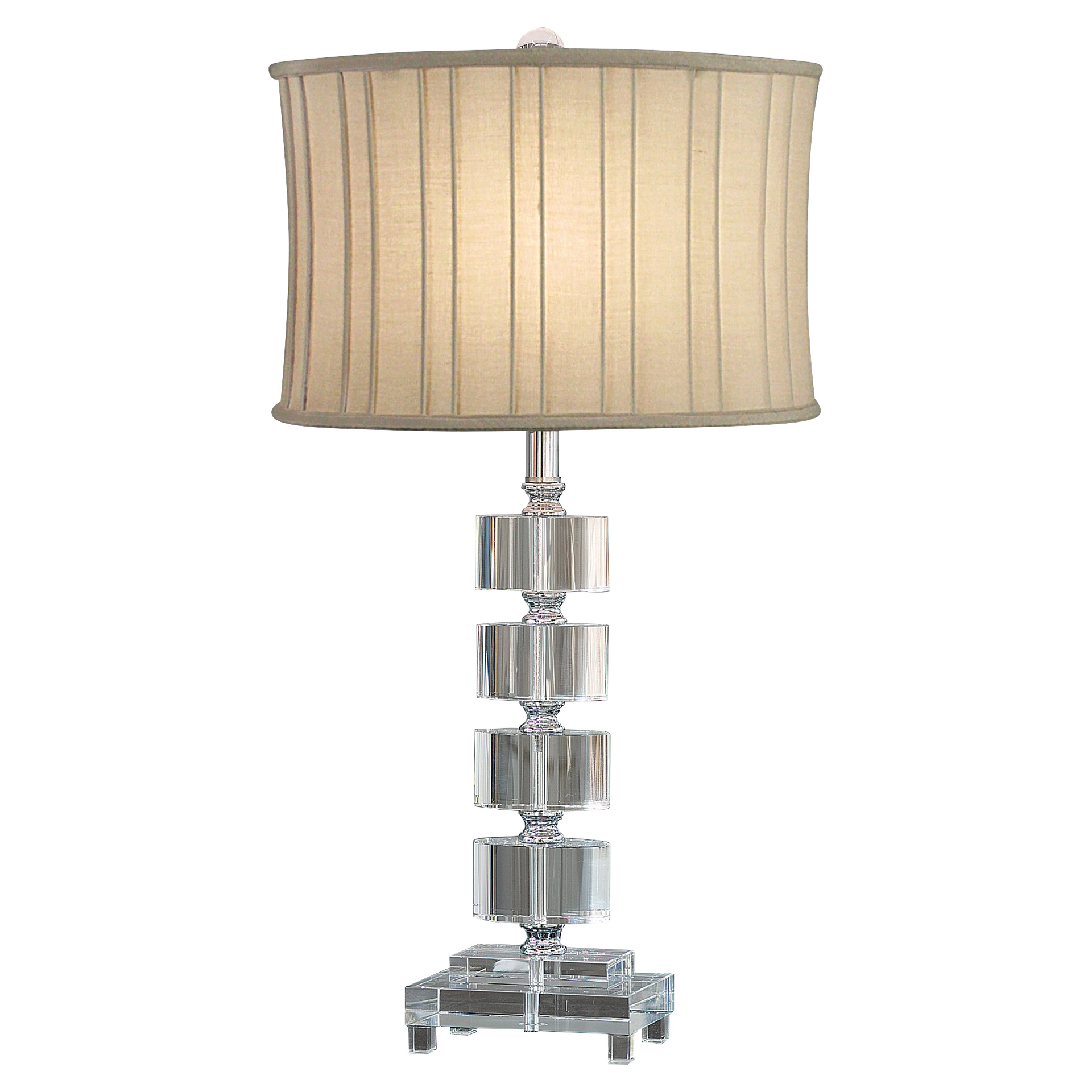 Langley Modern Classic Stacked Block Table Lamp
