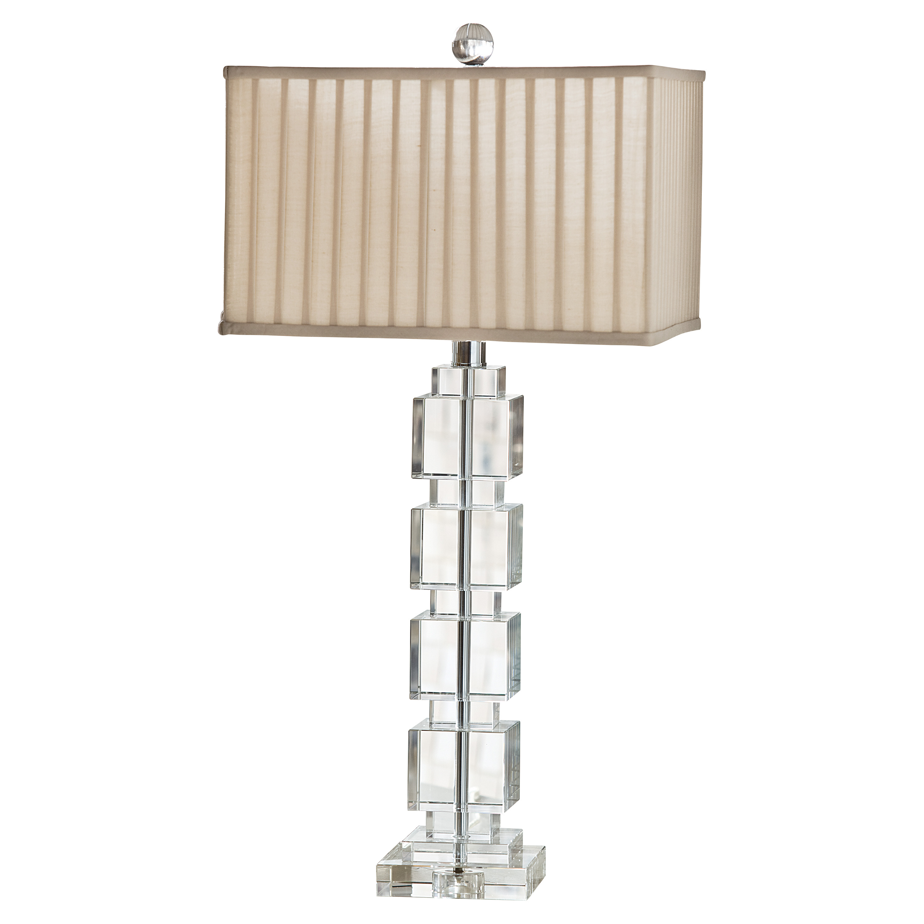 Langley Classic Stacked Cube Table Lamp