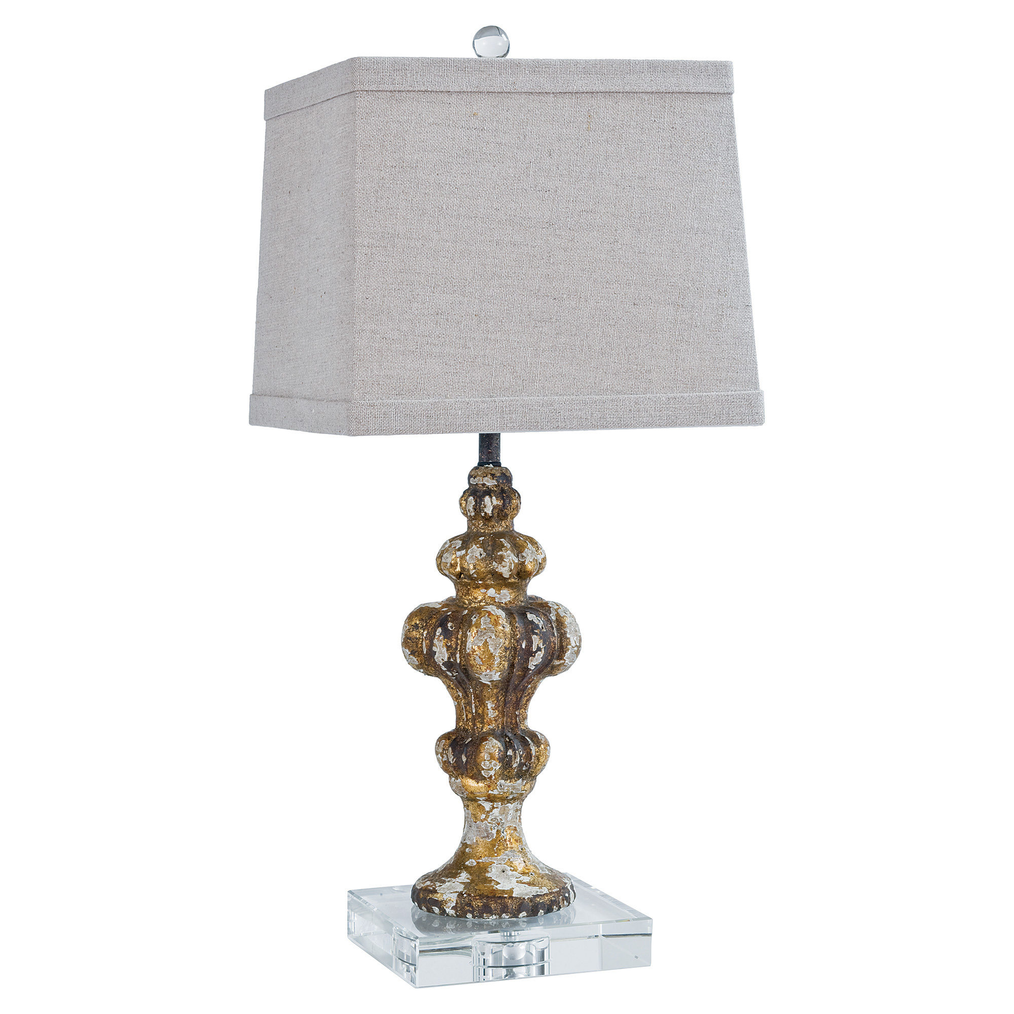French Modern Acrylic Rustic Table Lamp