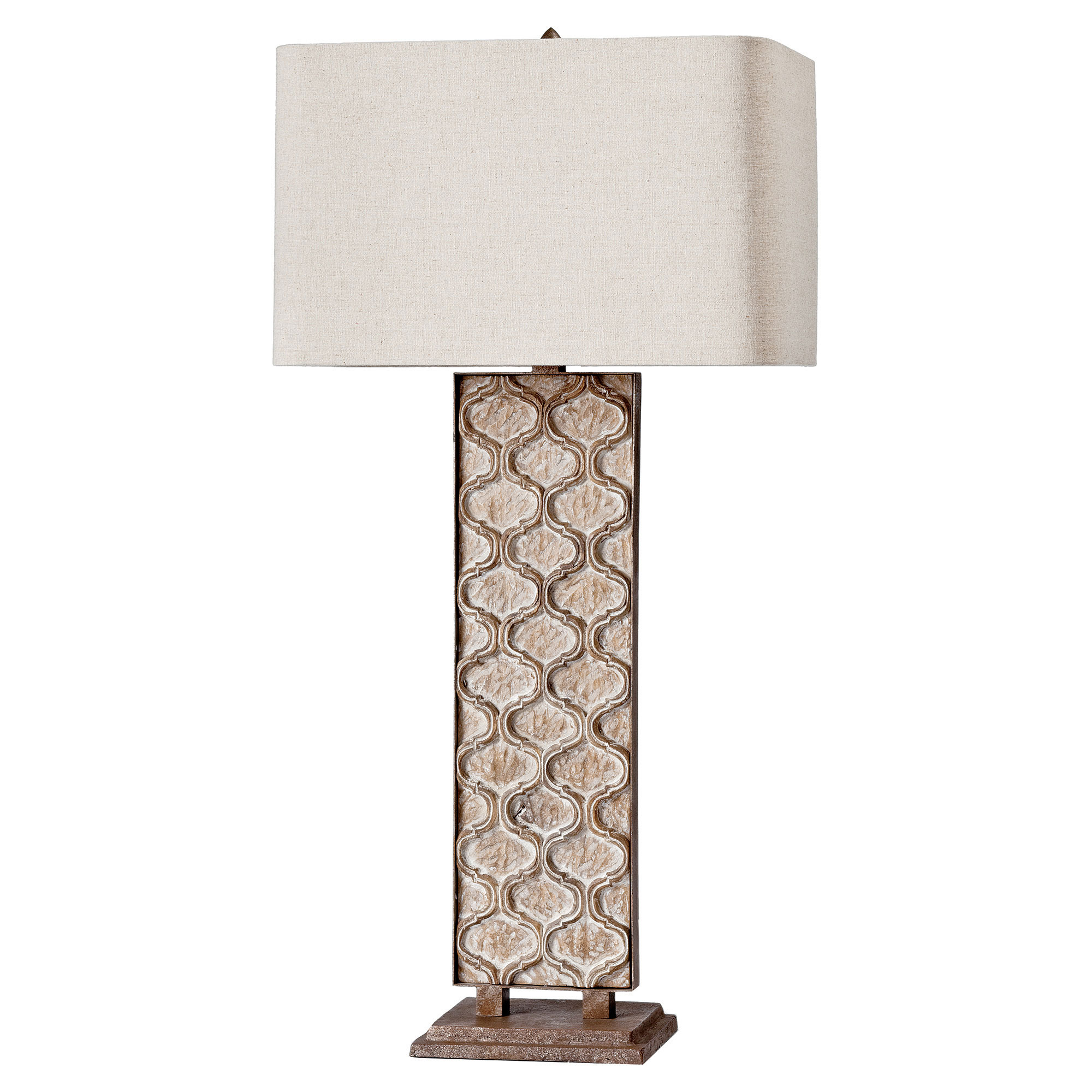 Sendak French Country Rustic Panel Table Lamp