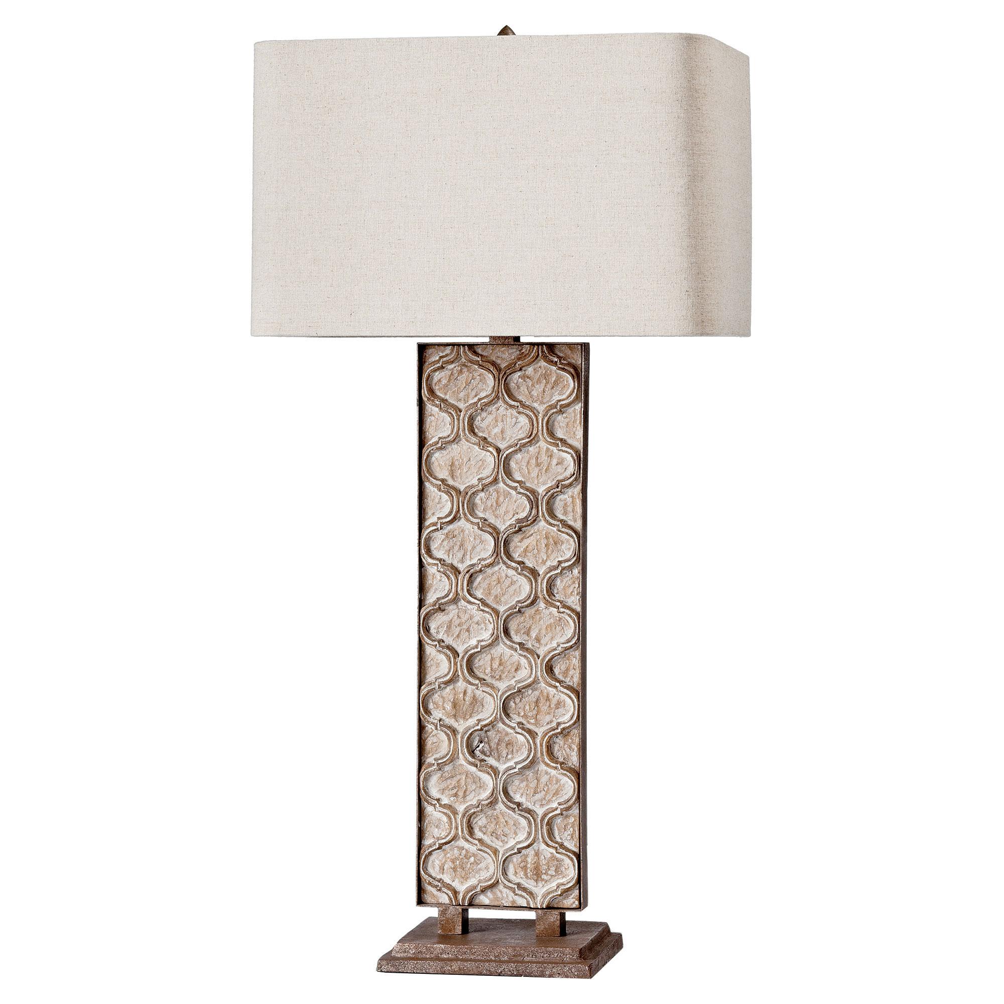Sendak French Country Rustic Panel Table Lamp
