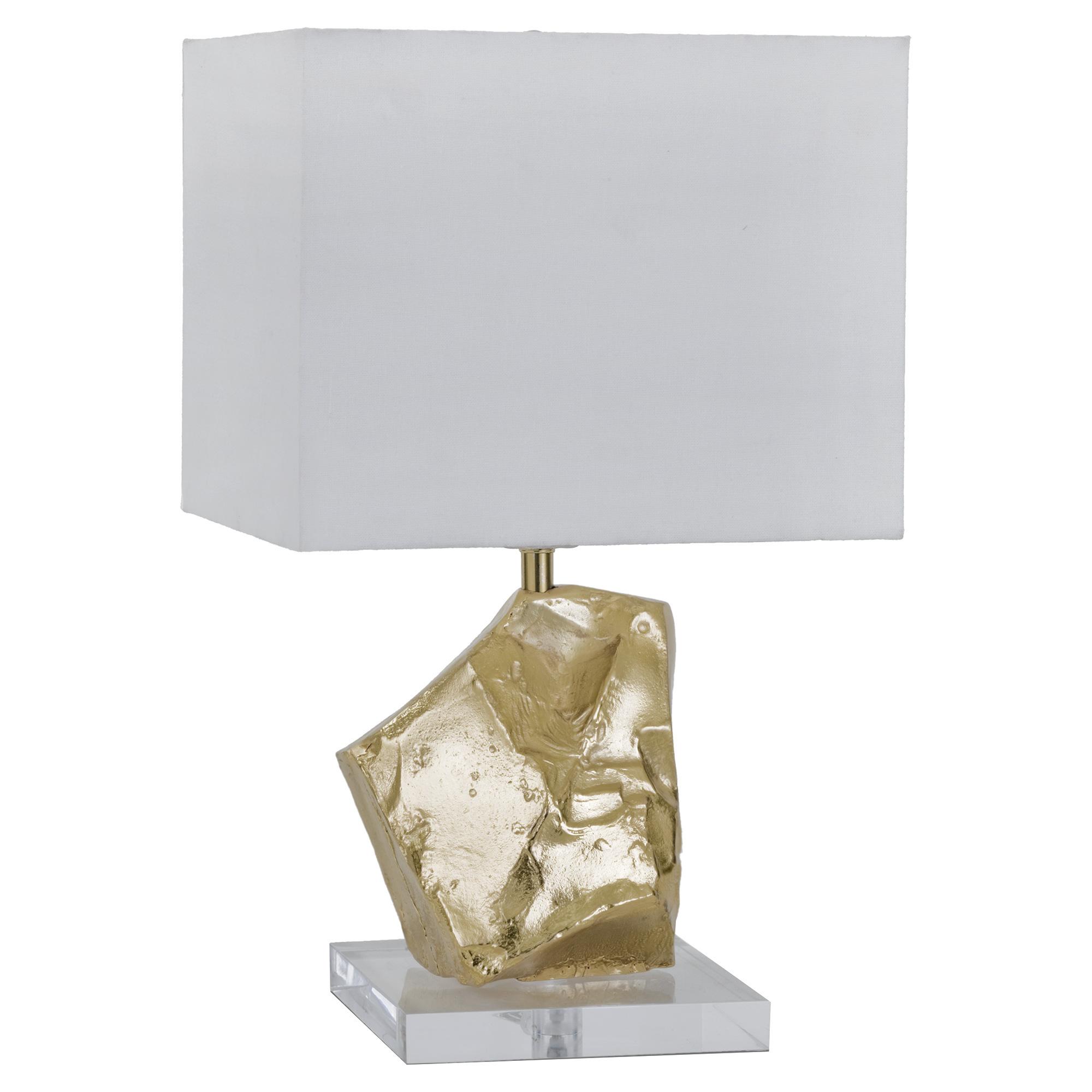 Berg Modern Classic Acrylic Gold Nugget Mini Lamp