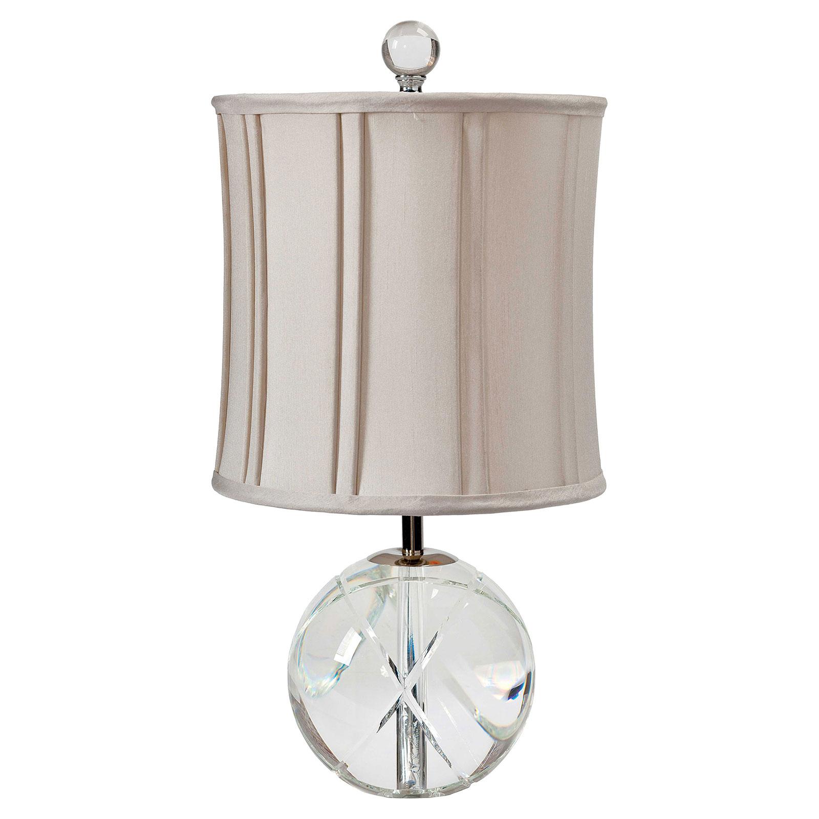 Blain Modern Crystal Sphere Pleat Shade Mini Lamp