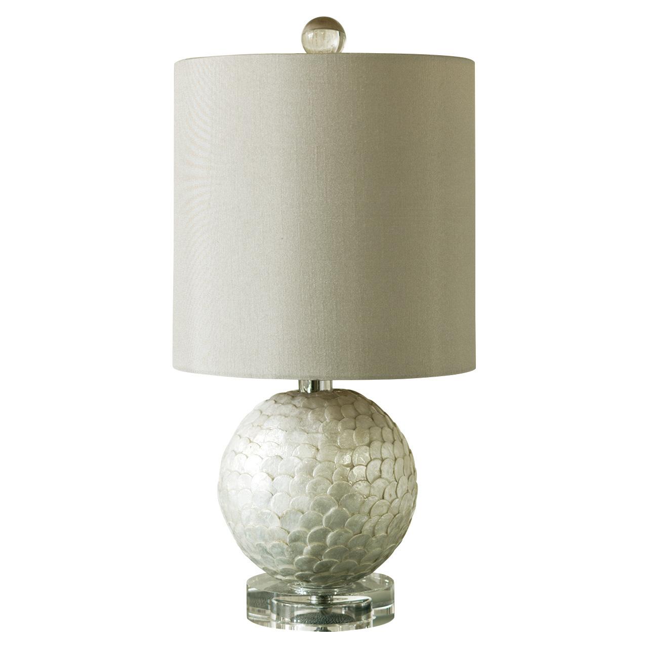 Placuna Beach Modern Capiz Sphere Mini Lamp