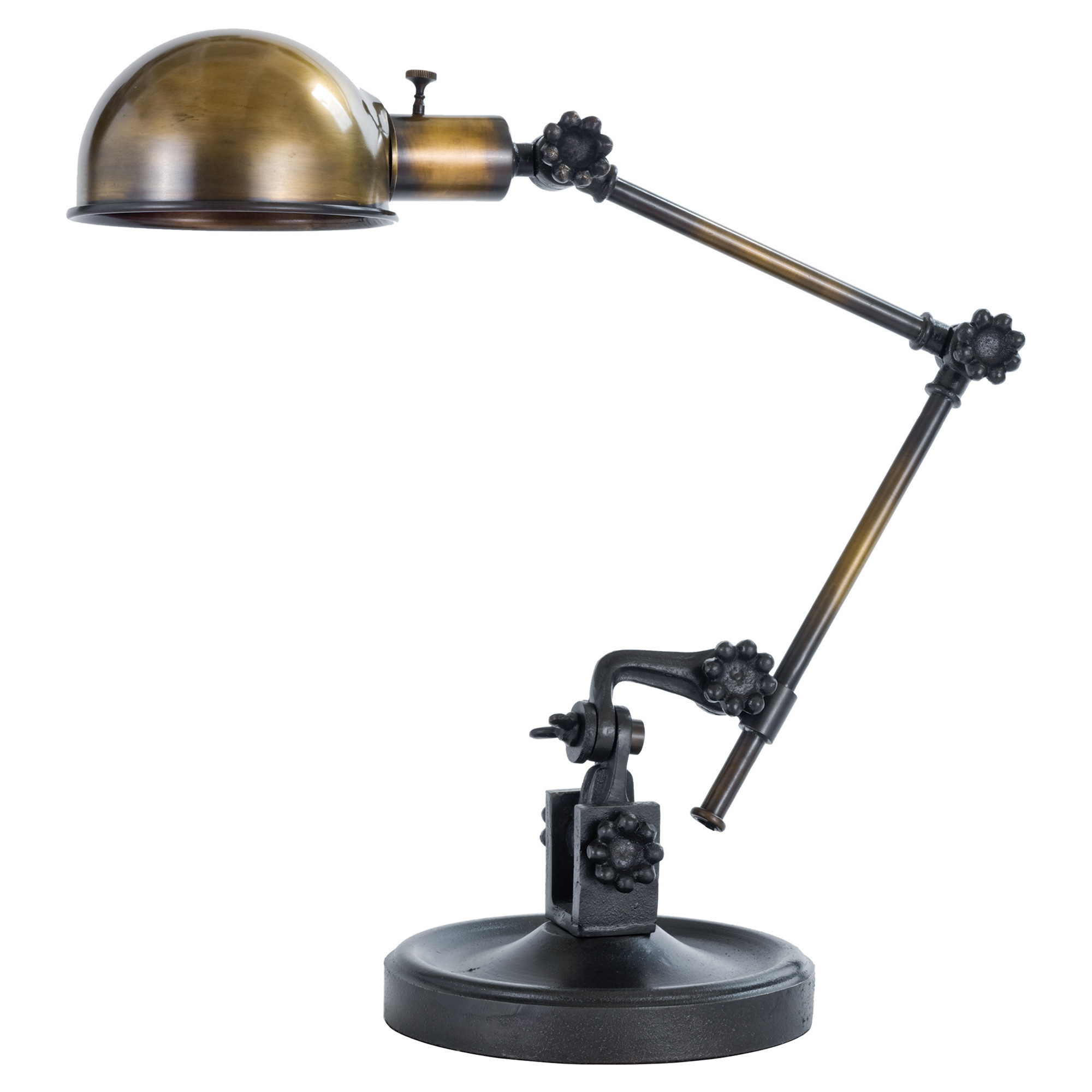 Volt Industrial Loft Brass Iron Task Lamp