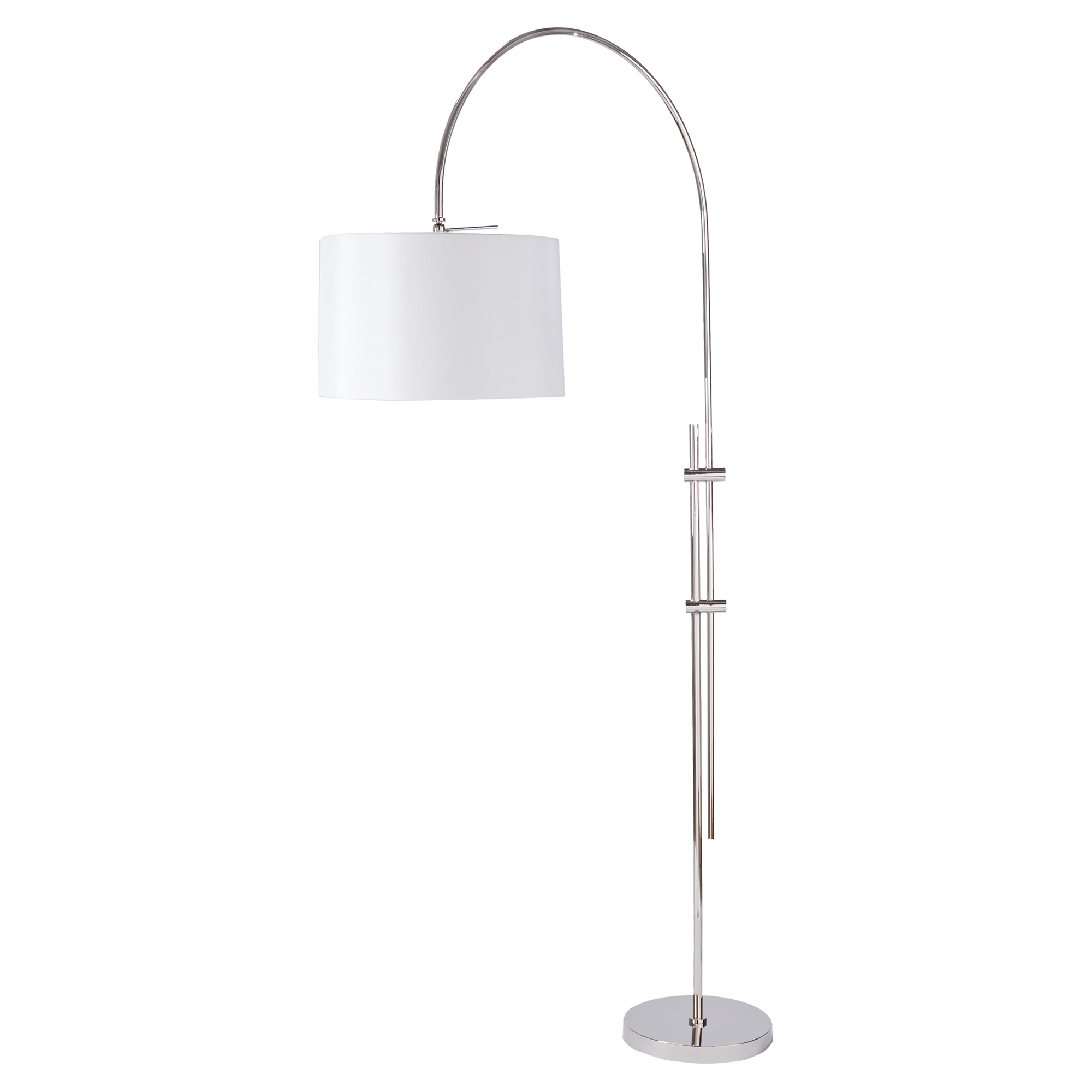 Sully Modern Classic Delicate Arch Silver Floor Lamp