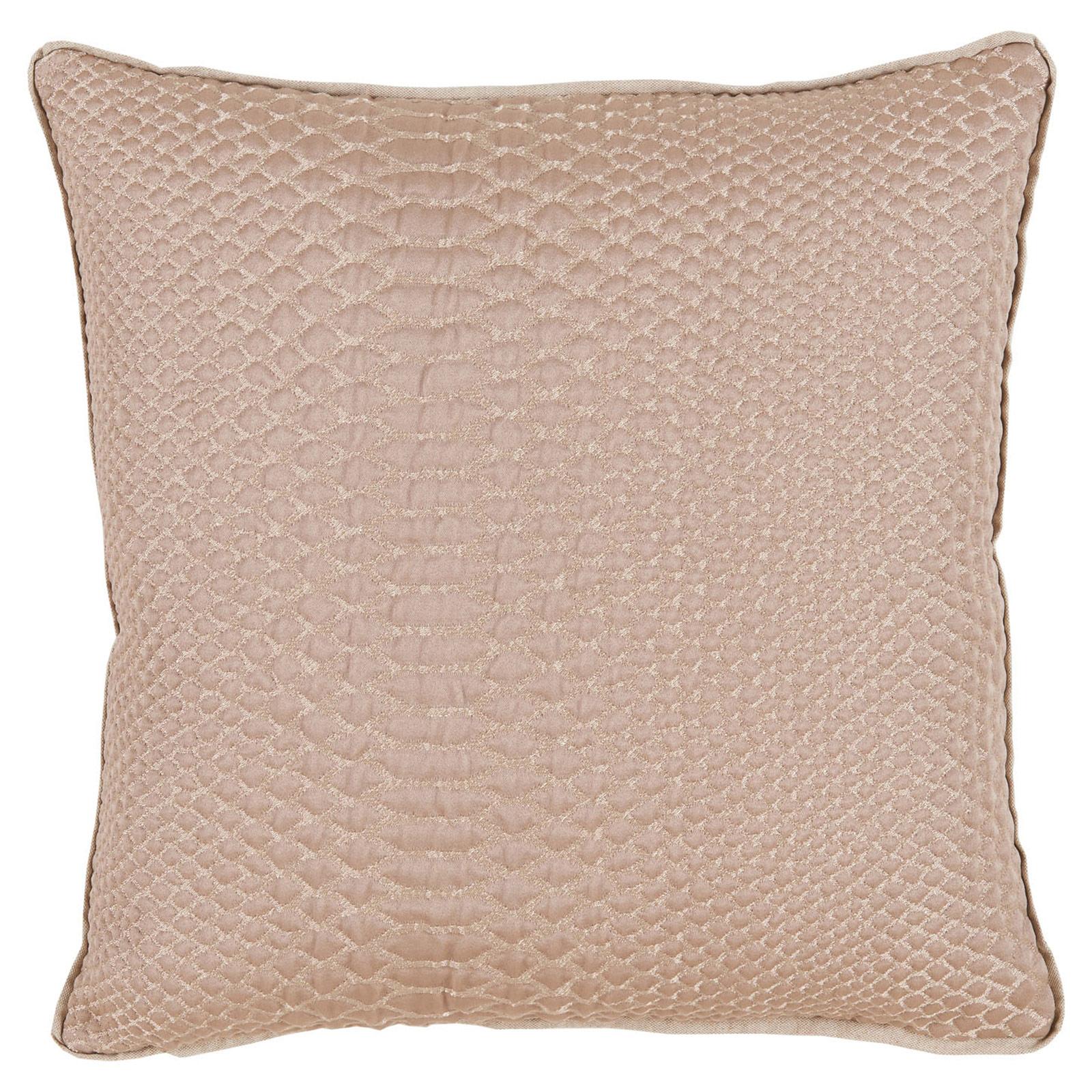 Shesha Hollywood Regency Brass Alligator Pillow - 20x20