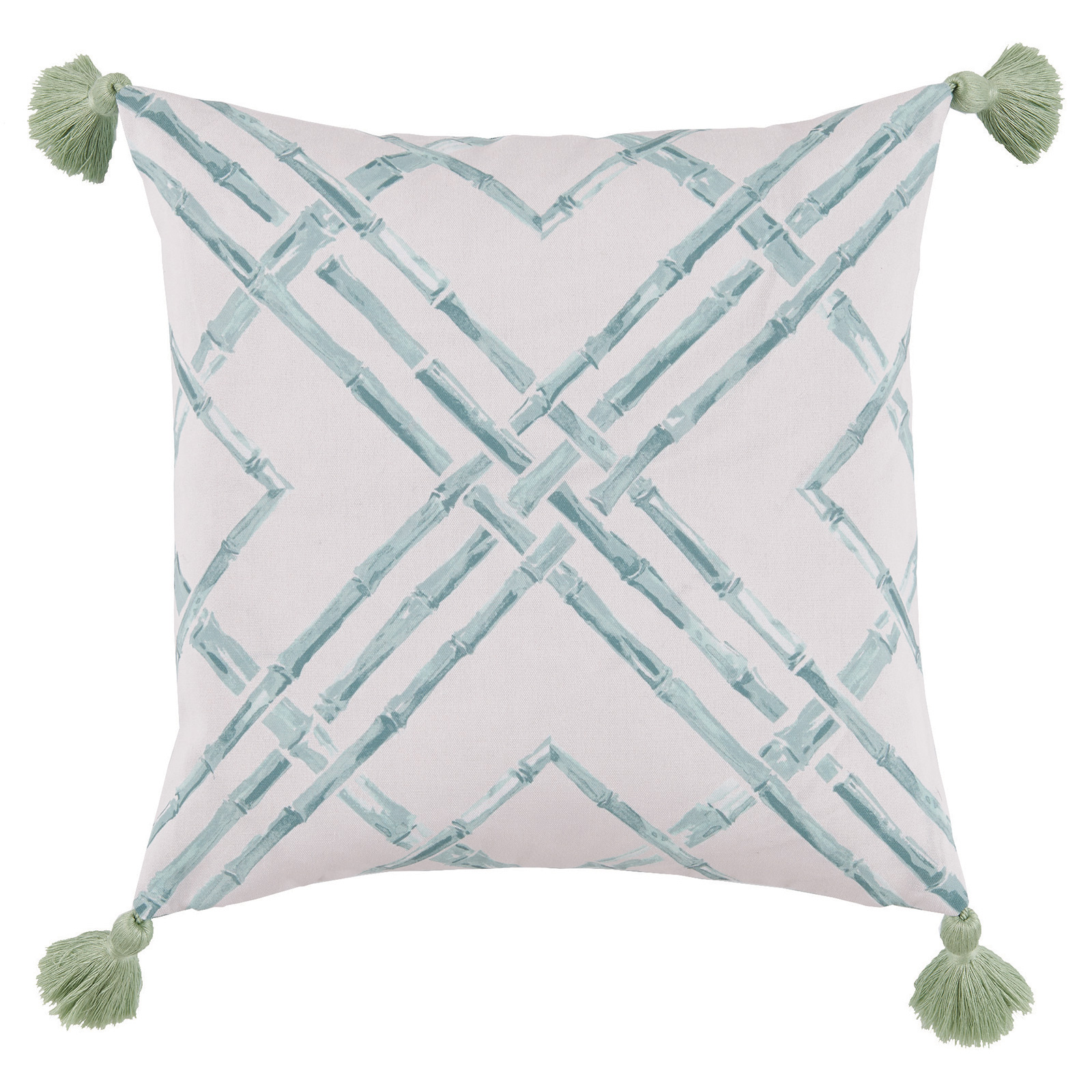 Mumbi Bazaar Mineral Bamboo Tassel Outdoor Pillow - 20x20