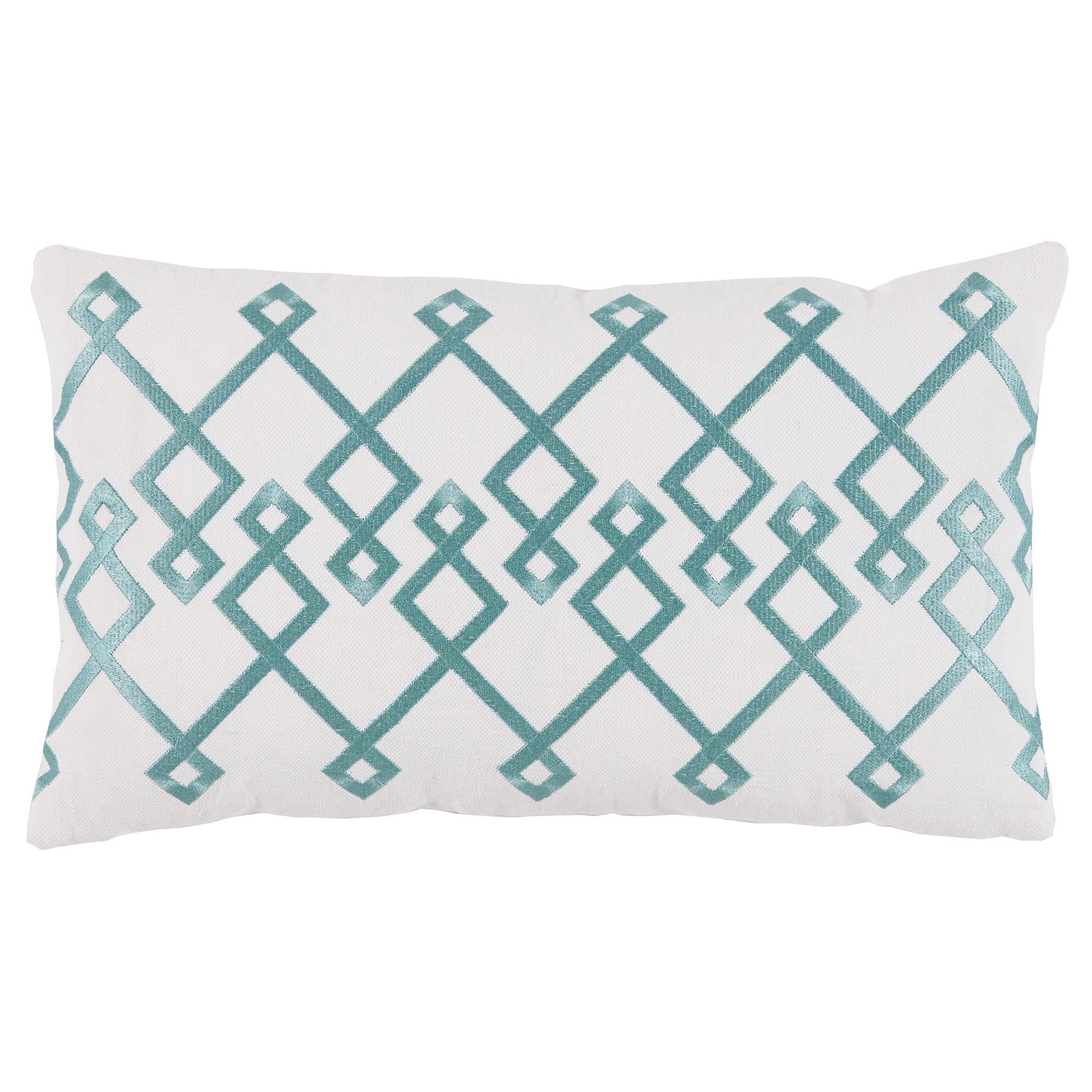 Steph Modern Mineral Chevron Embroidery White Pillow - 13x22