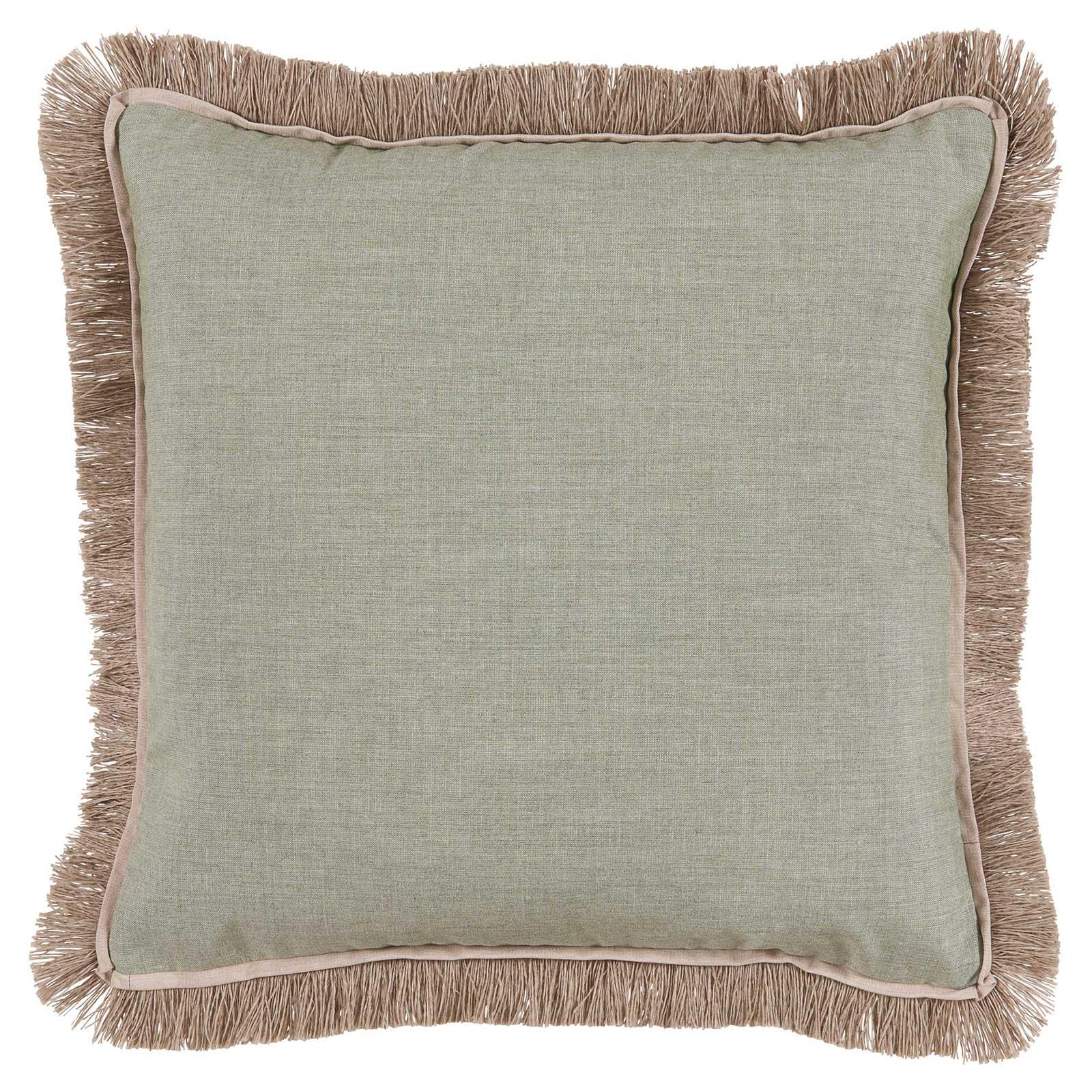 Talli Regency Fringe Sage Outdoor Pillow - 20x20