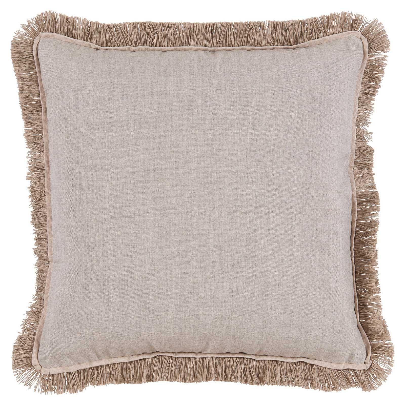 Talli Regency Fringe Silver Outdoor Pillow - 20x20