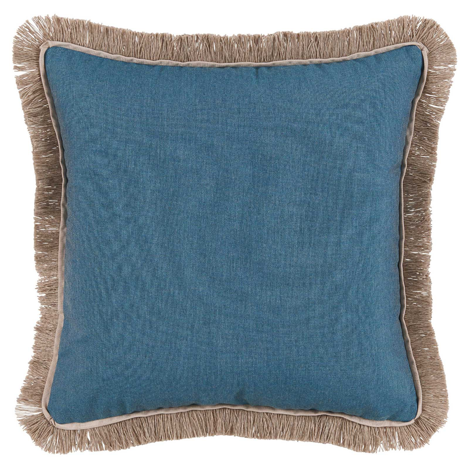 Talli Regency Fringe Denim Outdoor Pillow - 20x20