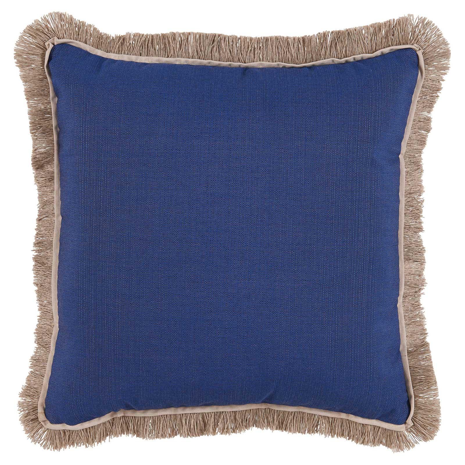 Talli Regency Fringe Cobalt Blue Outdoor Pillow - 20x20