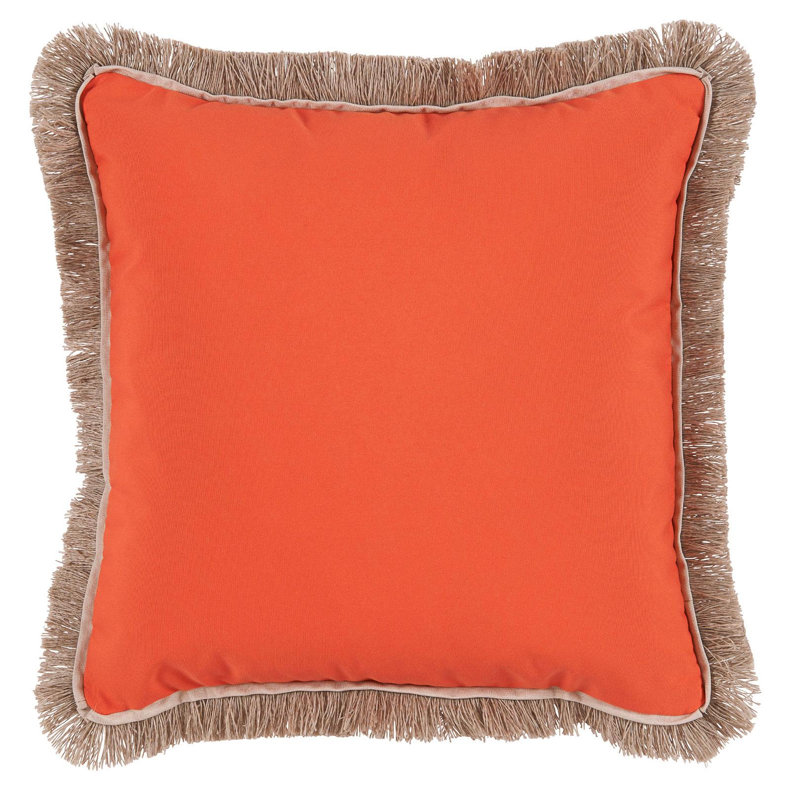 Talli Regency Fringe Orange Outdoor Pillow - 20x20
