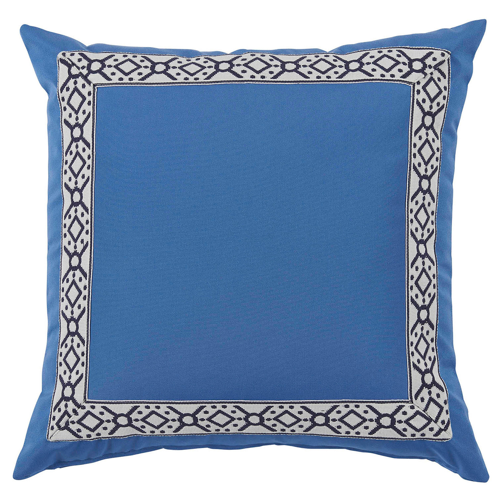 Perri Modern Global Trim Powder Blue Outdoor Pillow - 22x22
