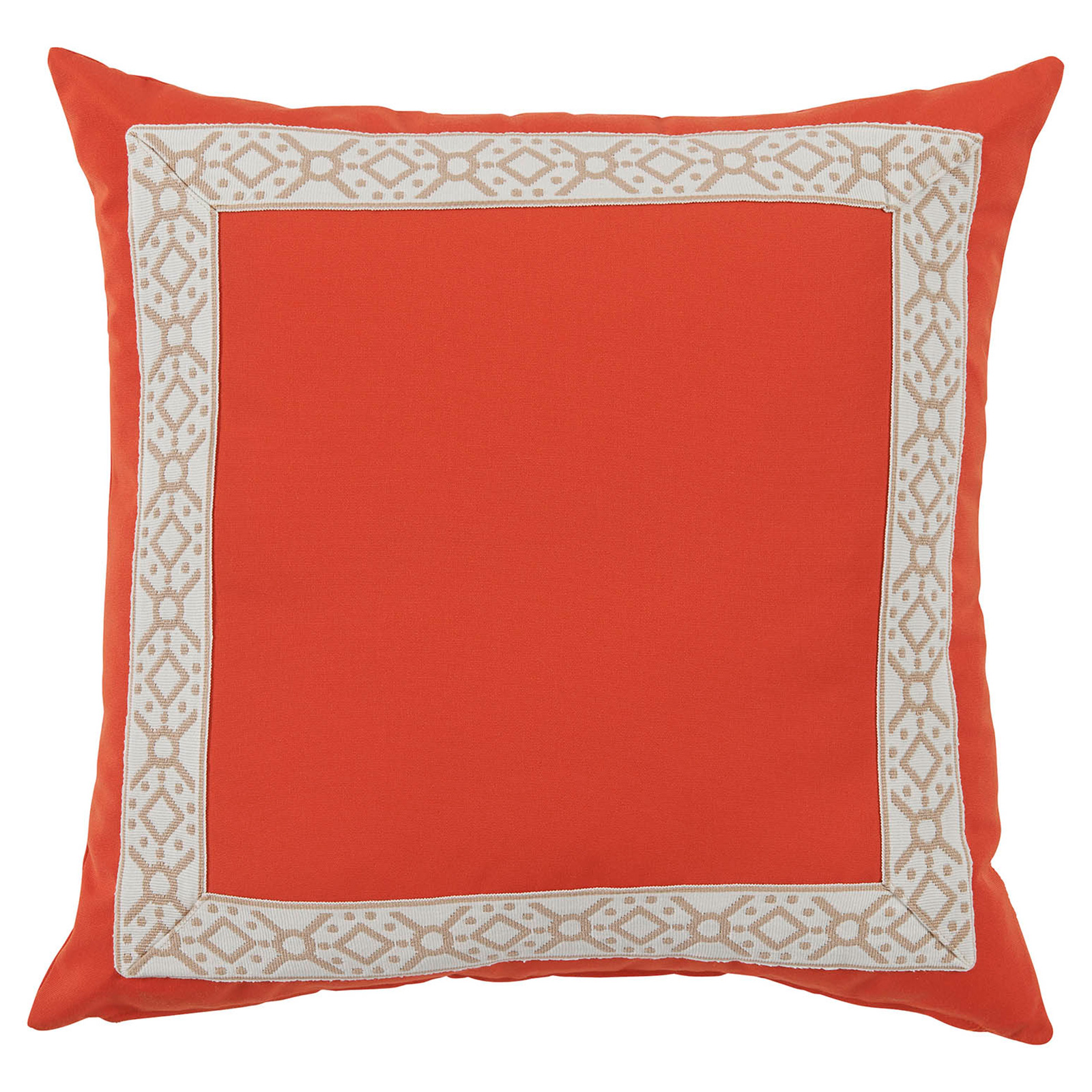 Perri Modern Global Trim Melon Outdoor Pillow - 22x22