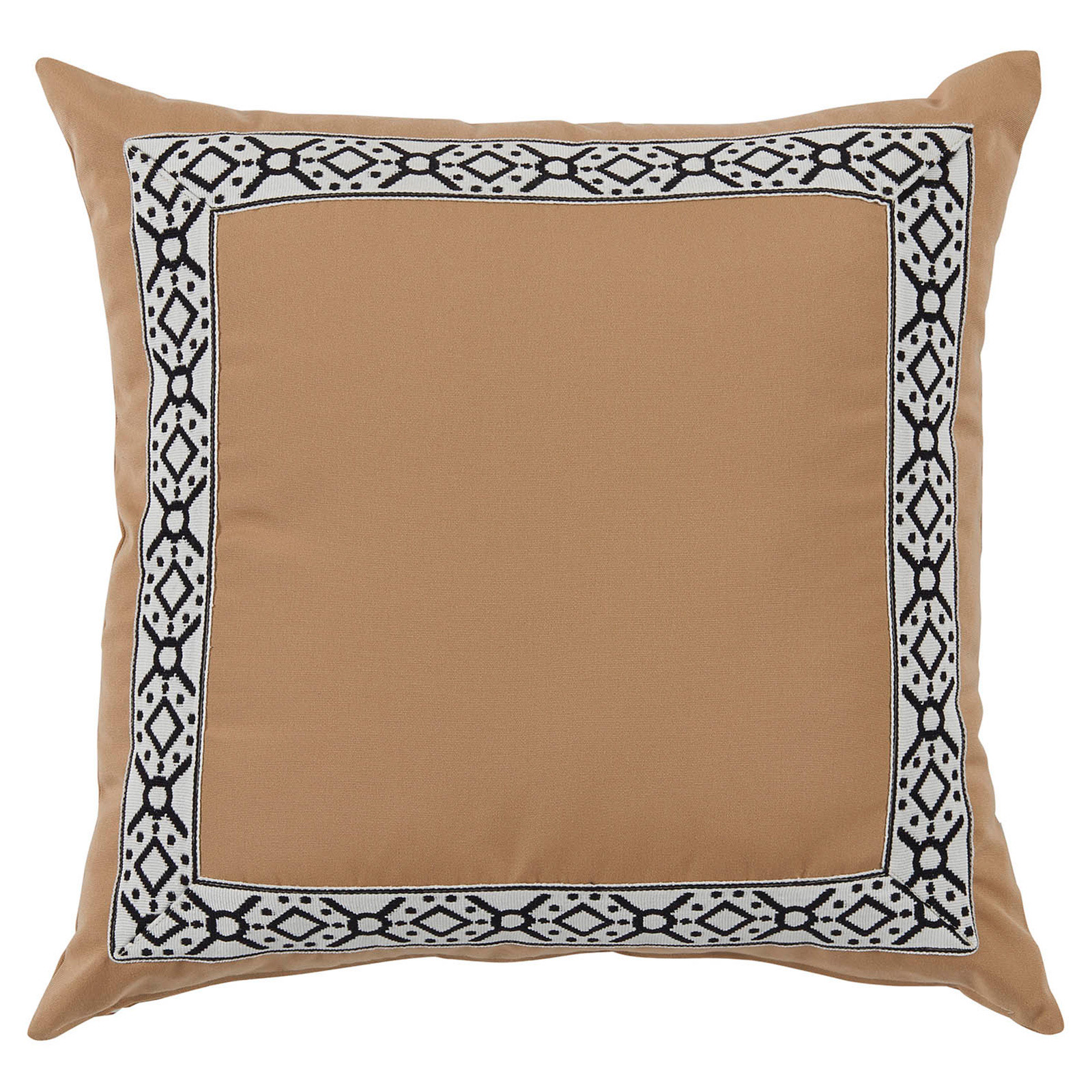 Perri Modern Global Trim Camel Outdoor Pillow - 22x22