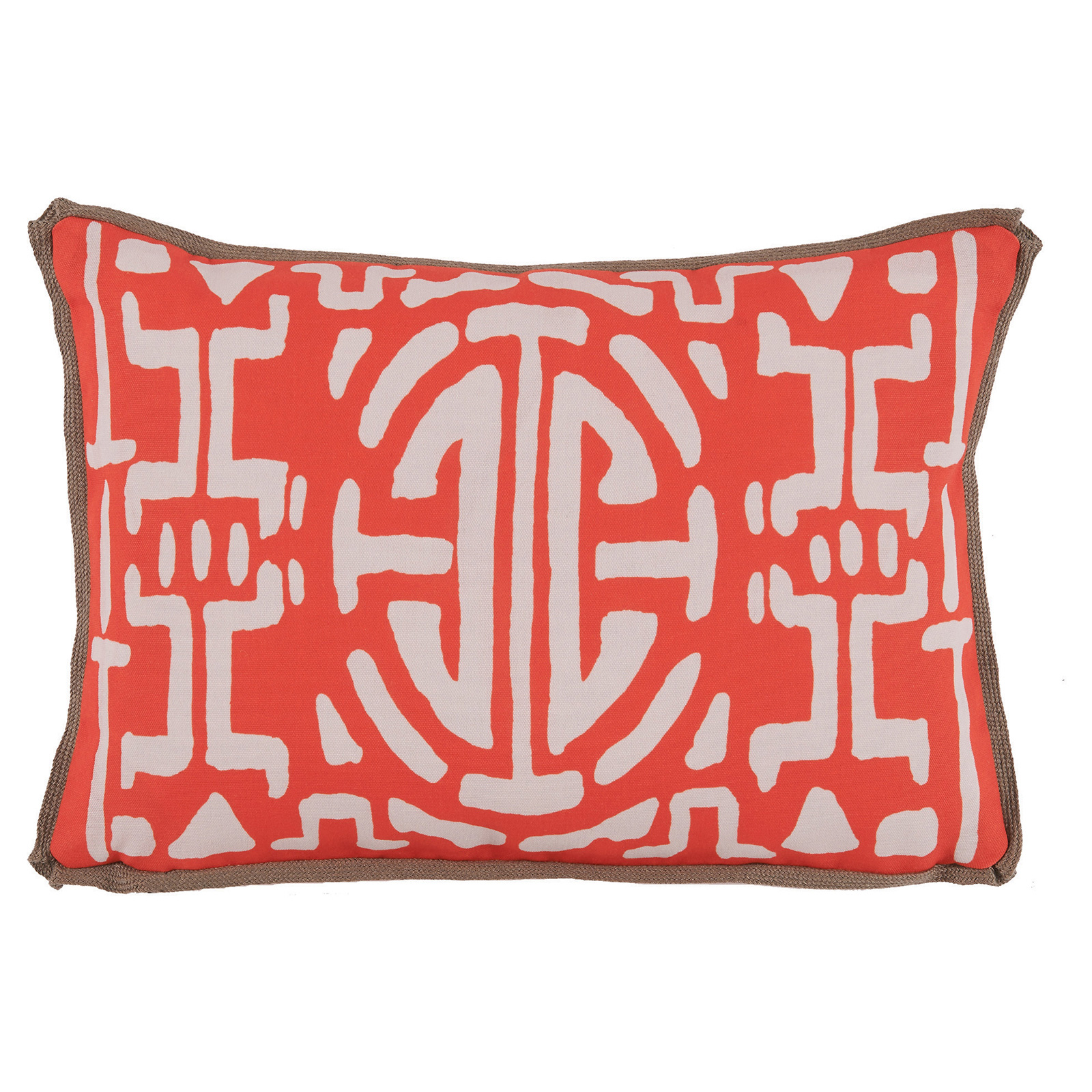 Nava Global Watermelon White Abstract Outdoor Pillow - 13x19