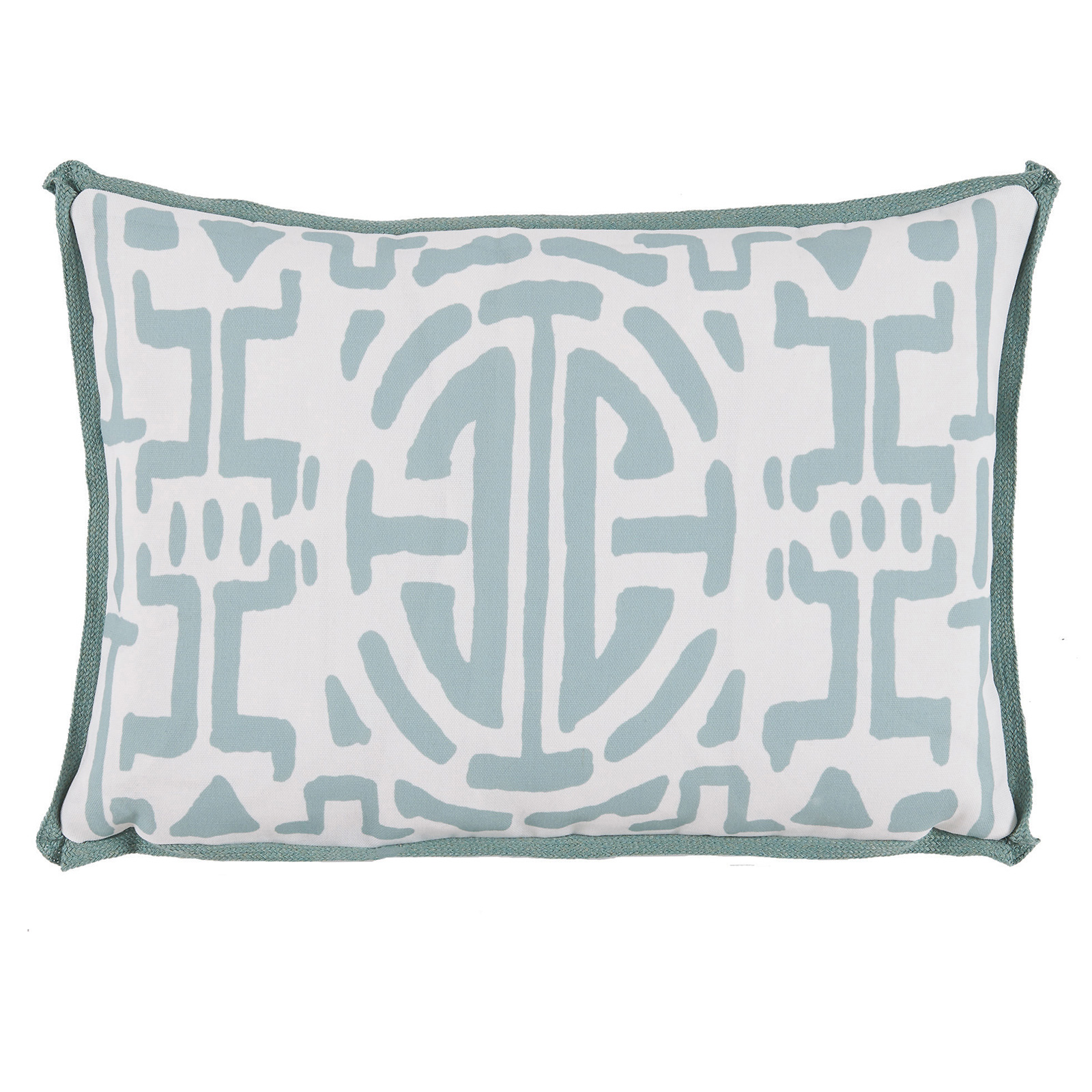 Nava Global Mineral Green Abstract Outdoor Pillow -13x19