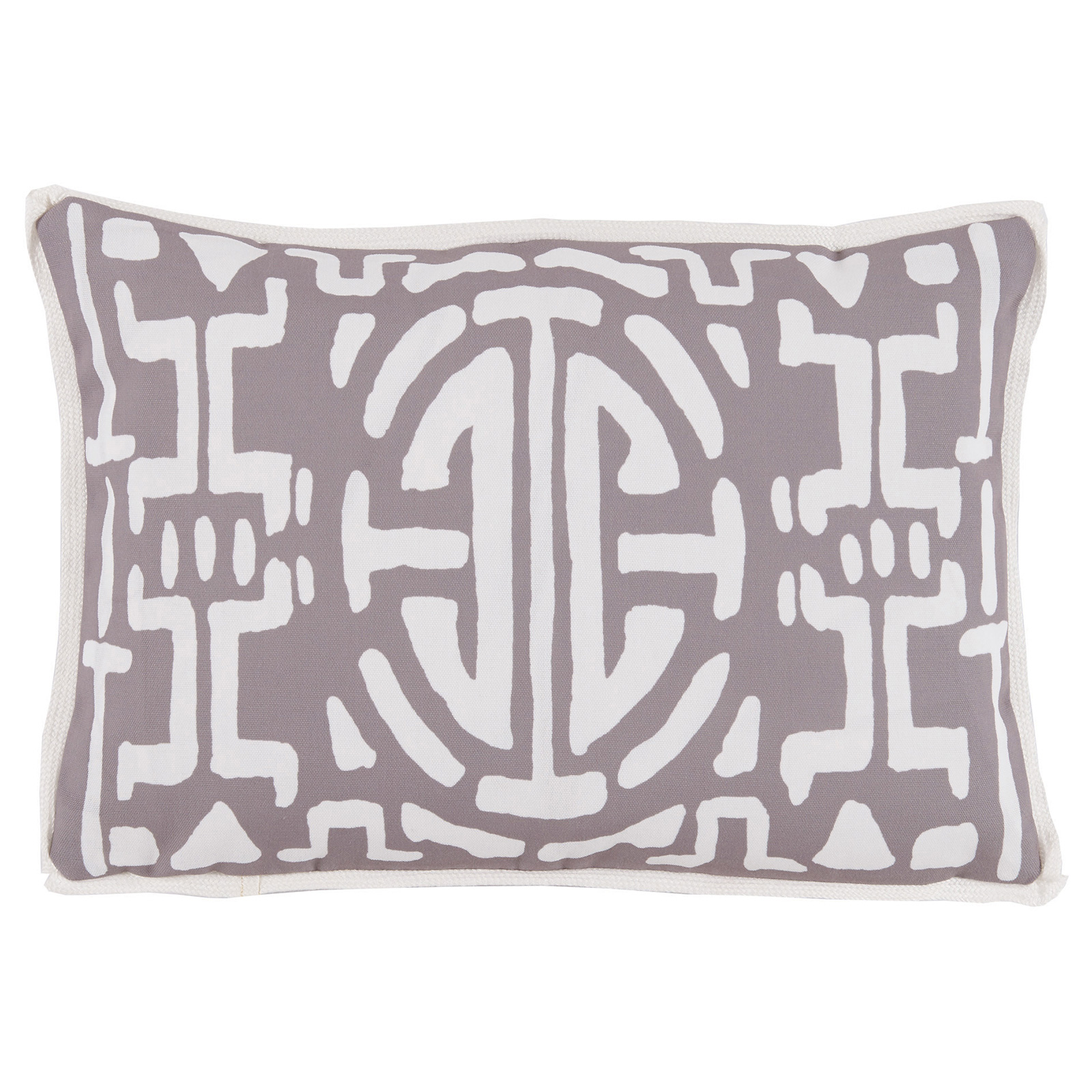 Nava Global Taupe Abstract Outdoor Pillow -13x19