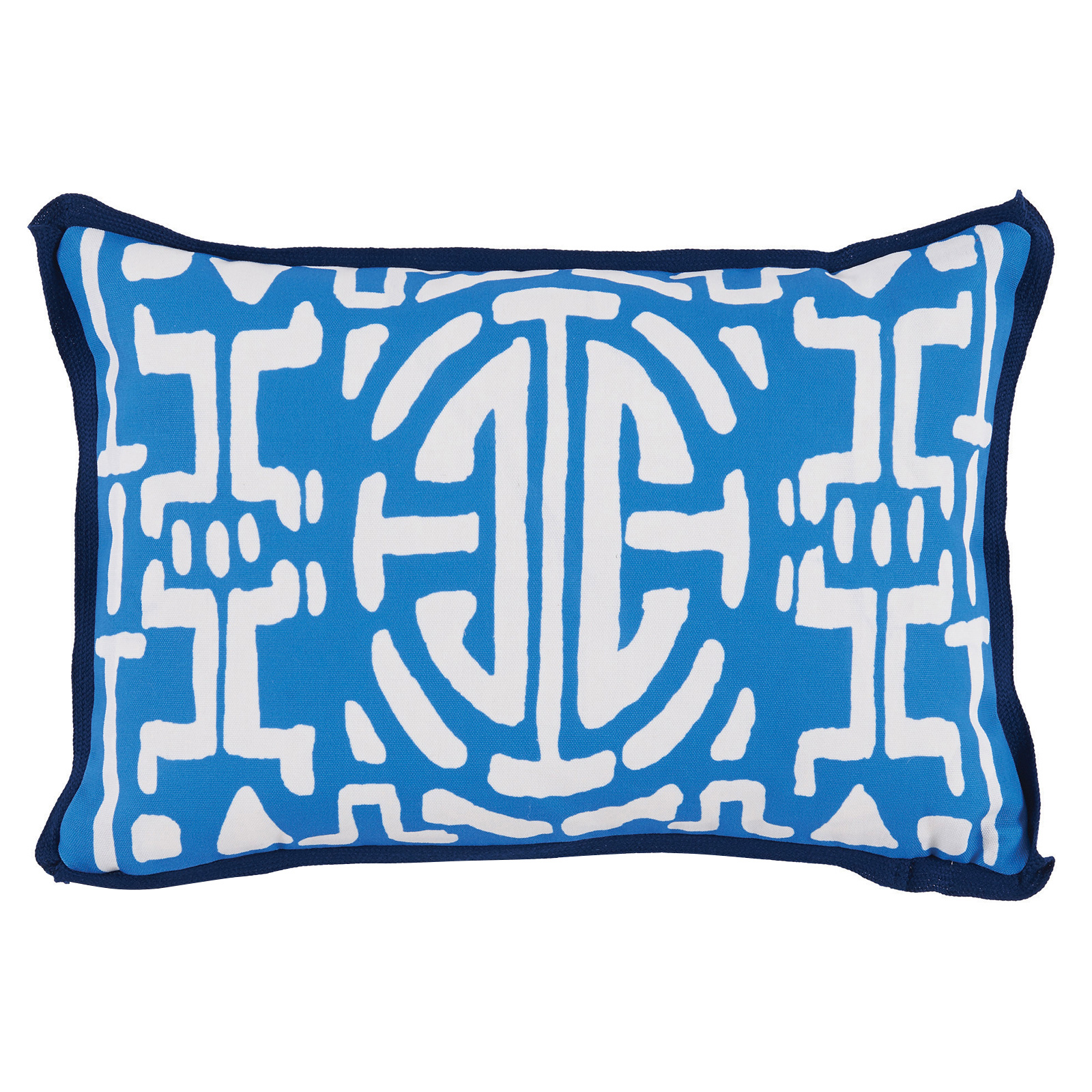 Nava Global Bright Blue Abstract Outdoor Pillow - 13x19