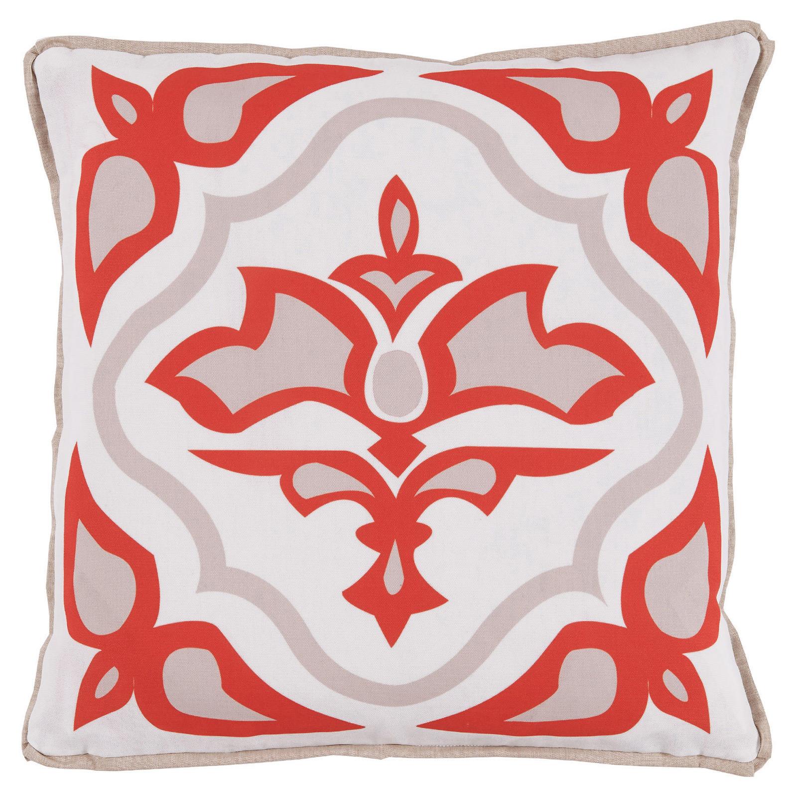 Julie Regency Abstract Melon Outdoor Pillow - 20x20