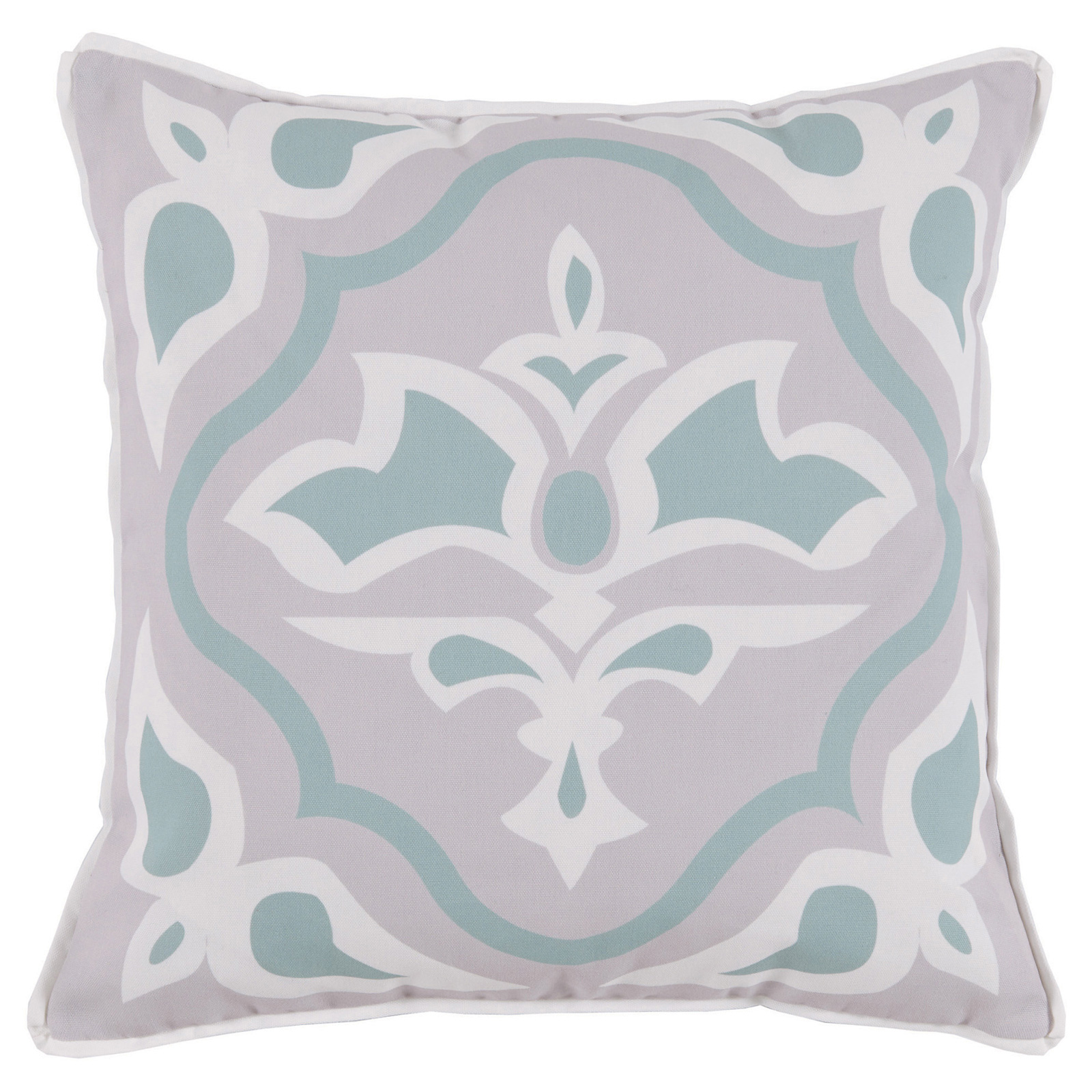 Julie Regency Abstract Mineral Green Outdoor Pillow - 20x20