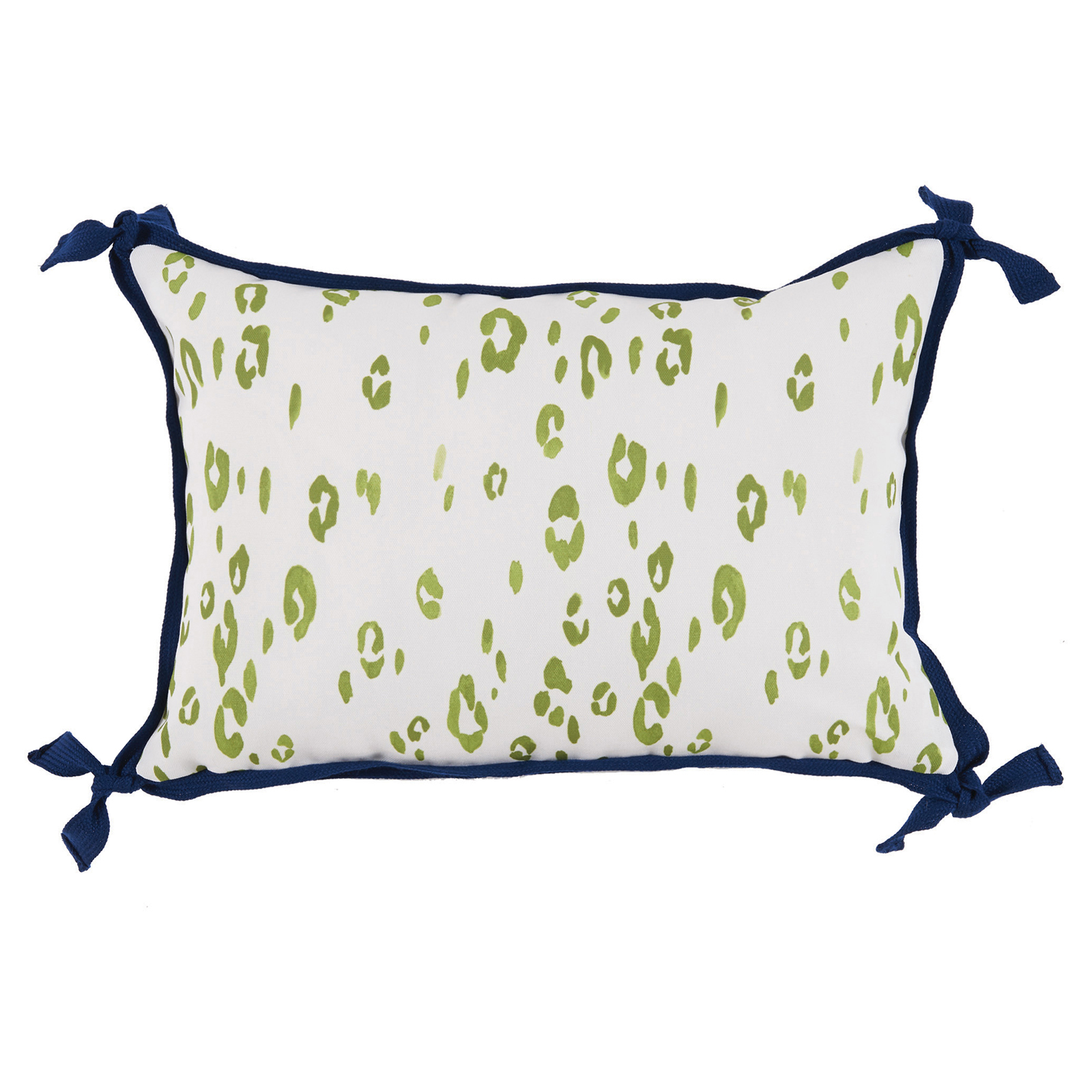 Hildy Modern Green Leopard Tie Outdoor Pillow - 13x19