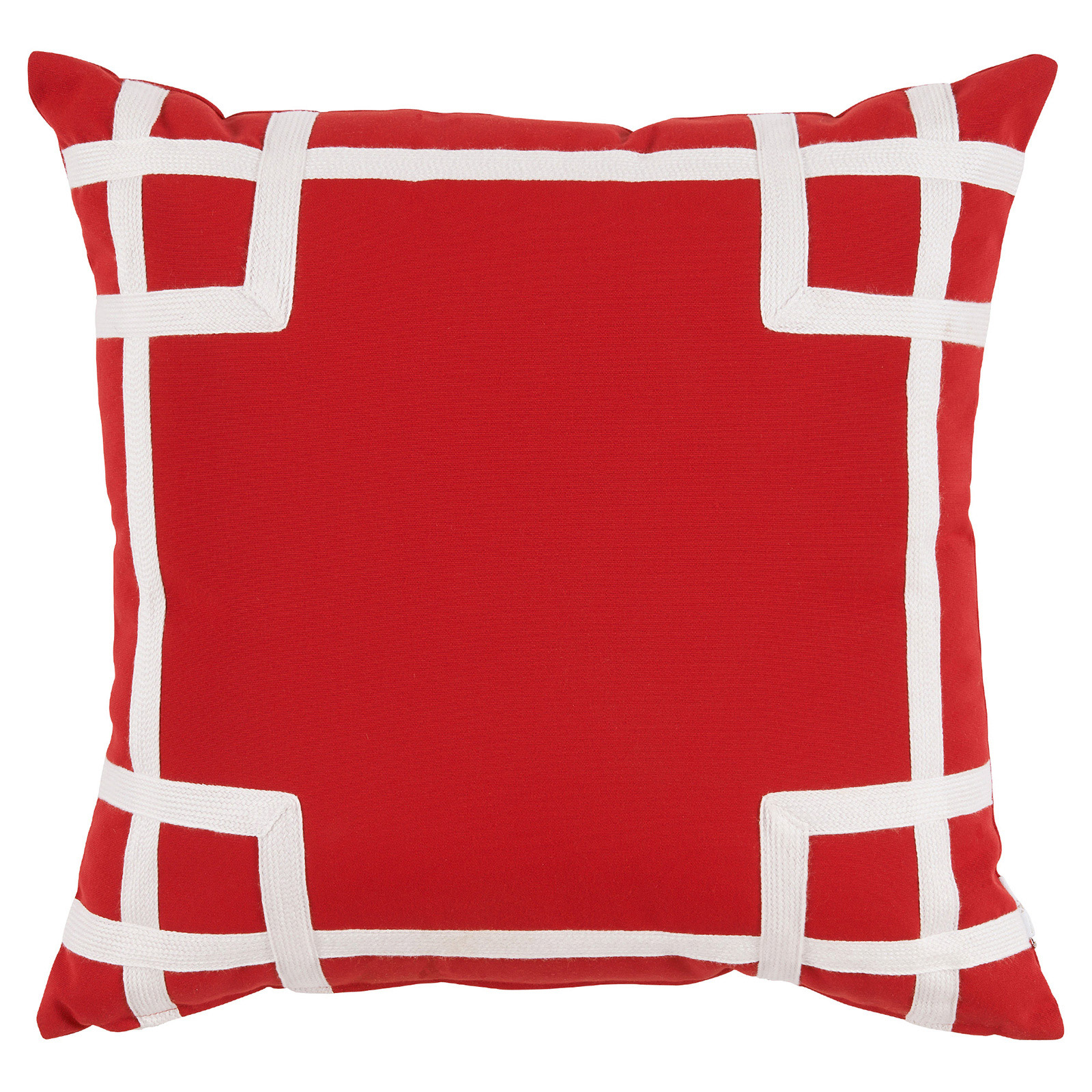 Paton Classic Outdoor Red Trellis Trim Pillow - 20x20