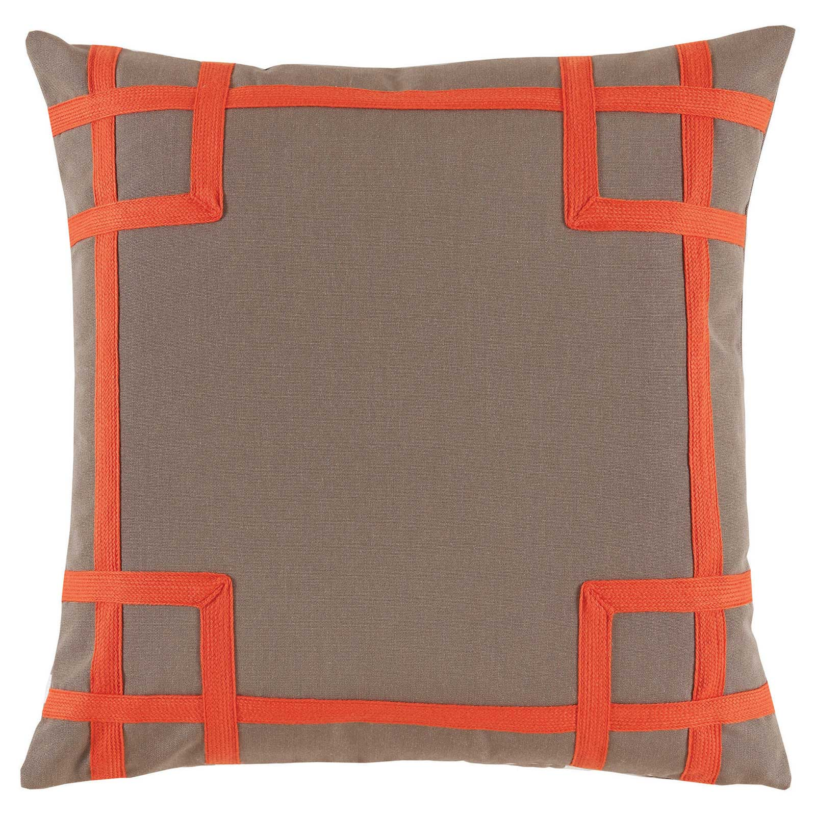 Paton Classic Outdoor Orange Trellis Trim Pillow - 20x20