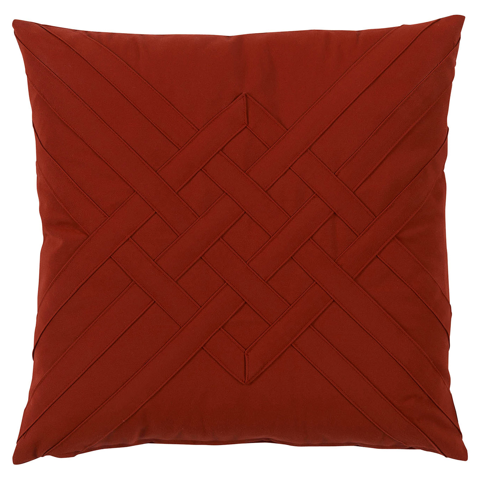 Will Modern Red Lattice Weave Outdoor Pillow - 20x20