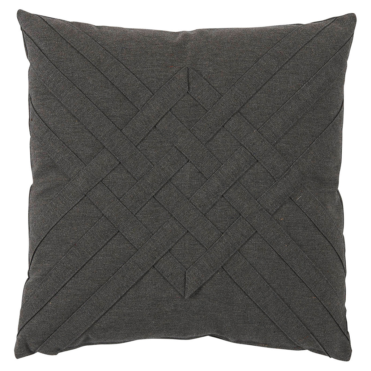 Will Modern Charcoal Lattice Weave Outdoor Pillow - 20x20