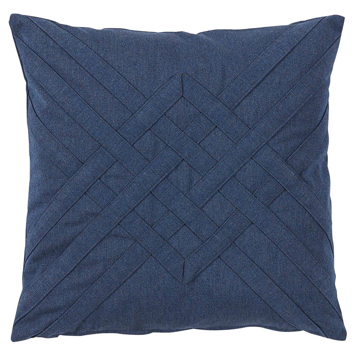 Will Modern Blue Lattice Weave Outdoor Pillow - 20x20