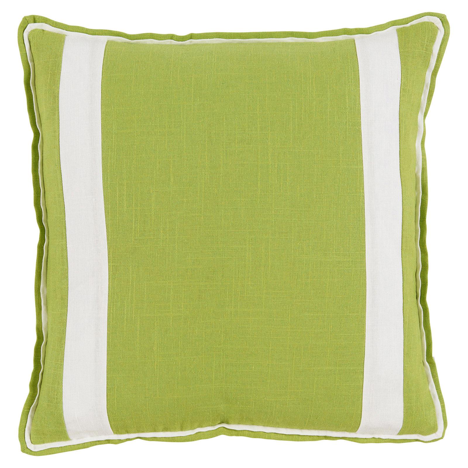 Bobbi Modern Classic Bold Stripe Lime Linen Pillow - 20x20