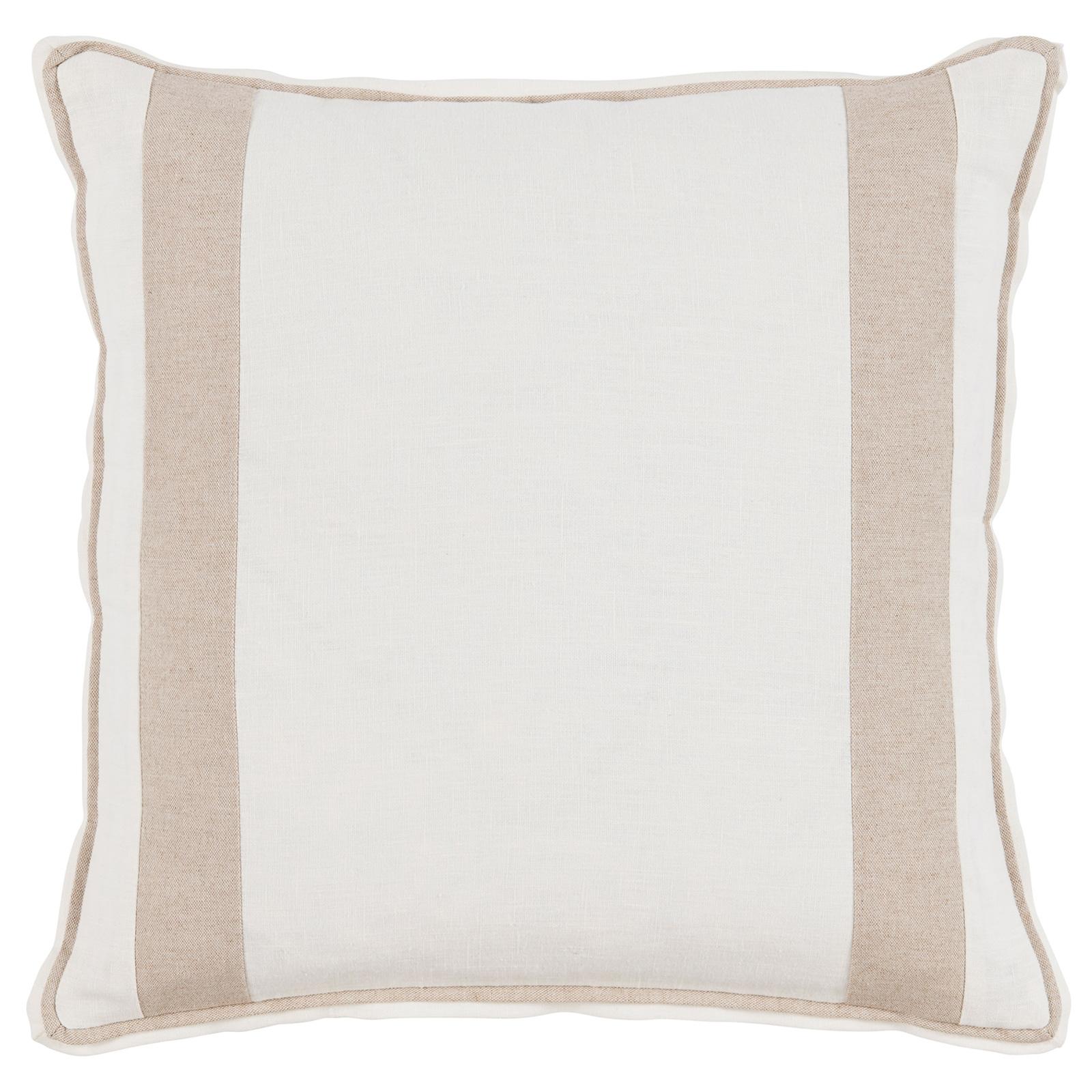 Bobbi Modern Classic Bold Stripe White Linen Pillow - 20x20