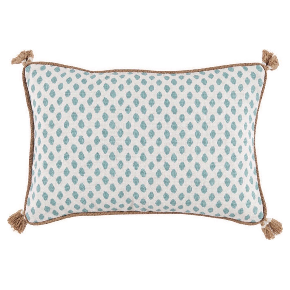 Milia Bazaar Mineral Tribal Dot Tassel Trim Pillow - 13x19