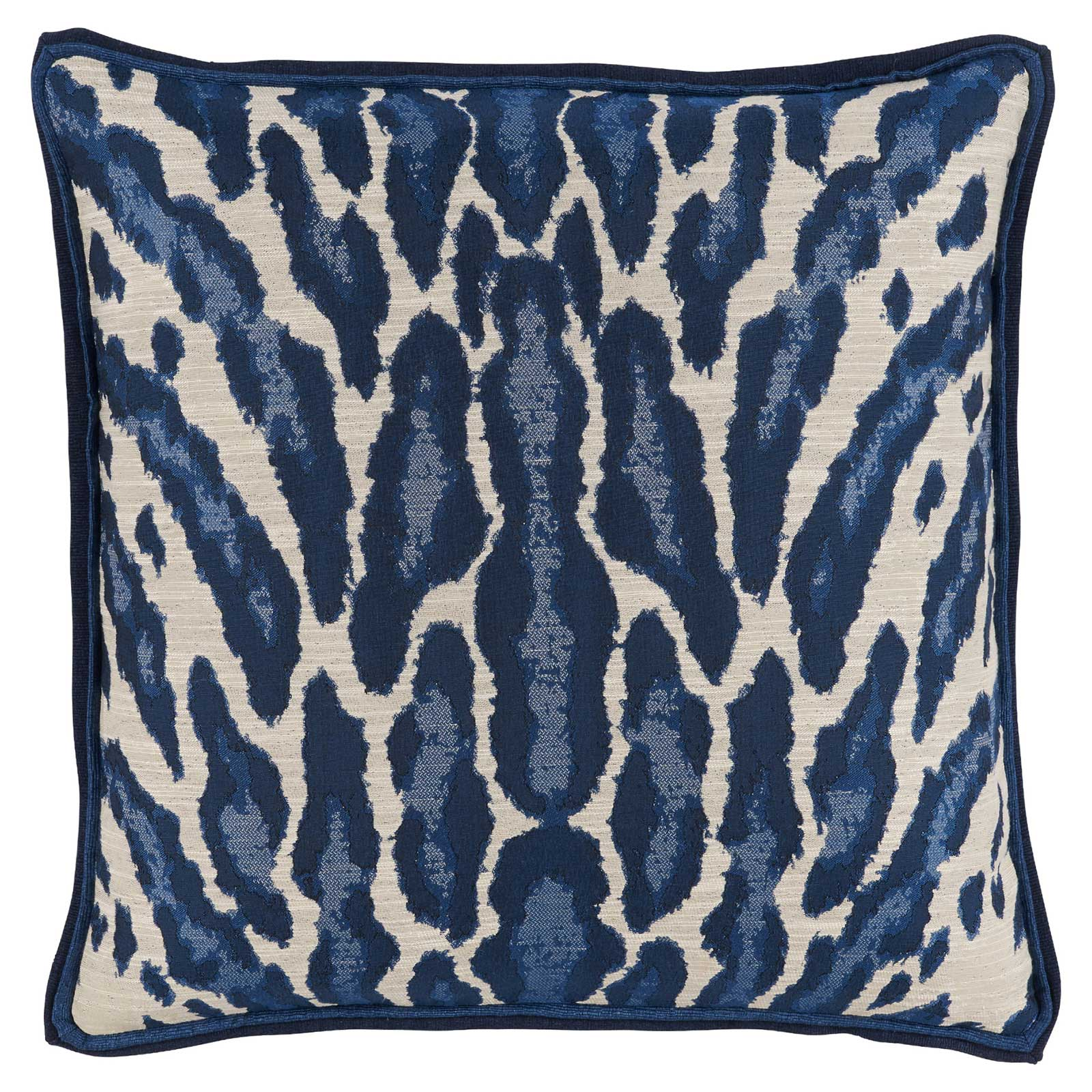 Vivy Global Regency Abstract Leopard Print Navy Pillow - 22x22