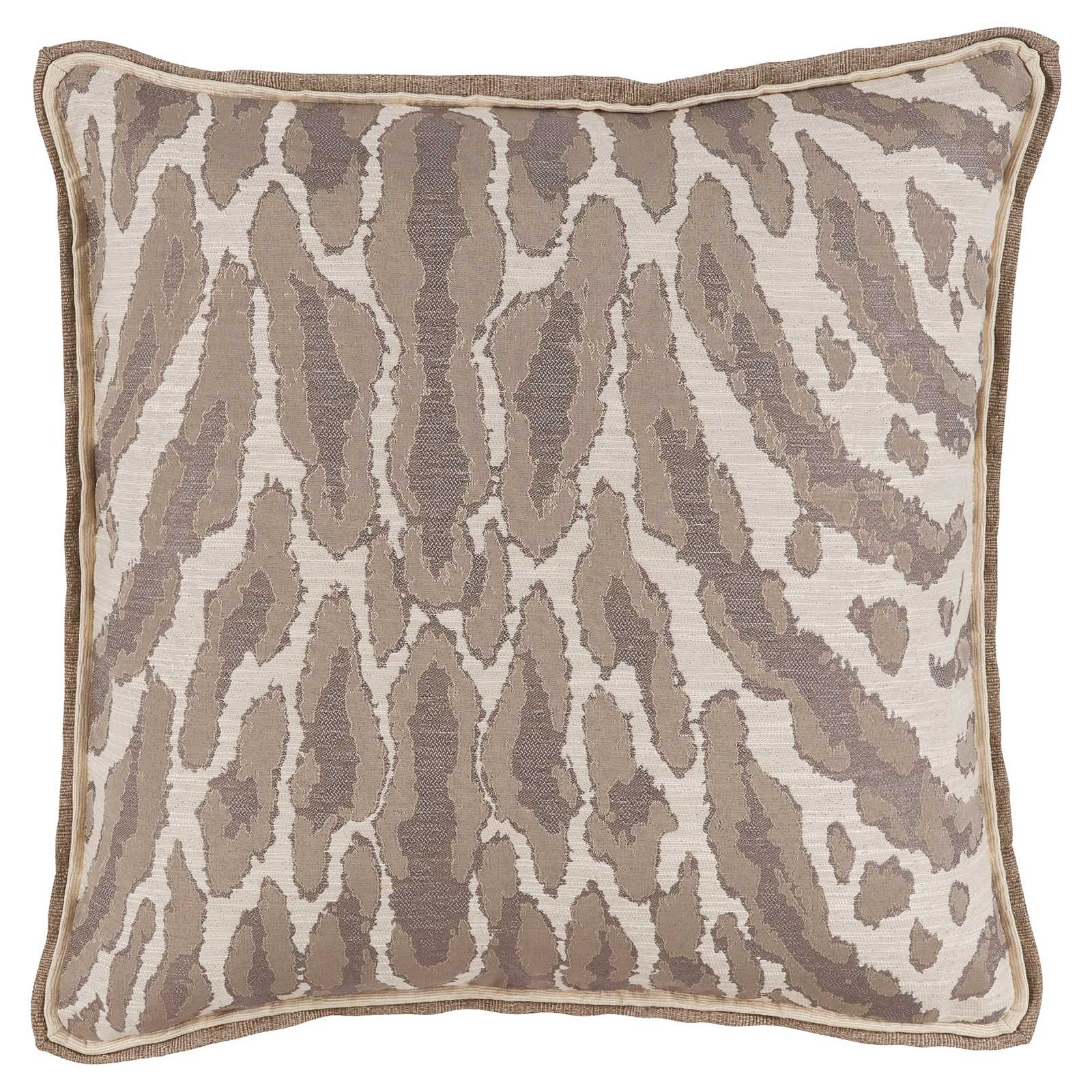 Vivy Global Regency Abstract Leopard Print Beige Pillow - 22x22